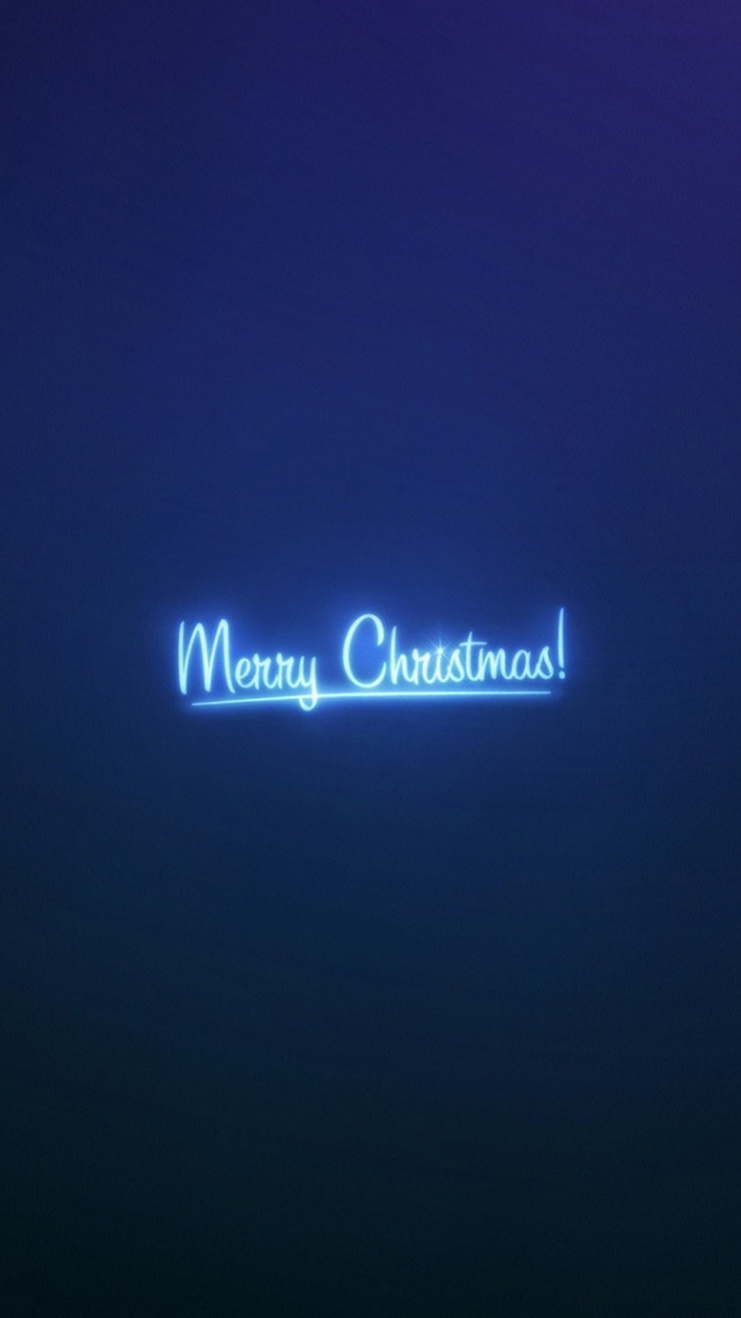 1080x1920 Merry Christmas Neon Blue Light Android Wallpaper
