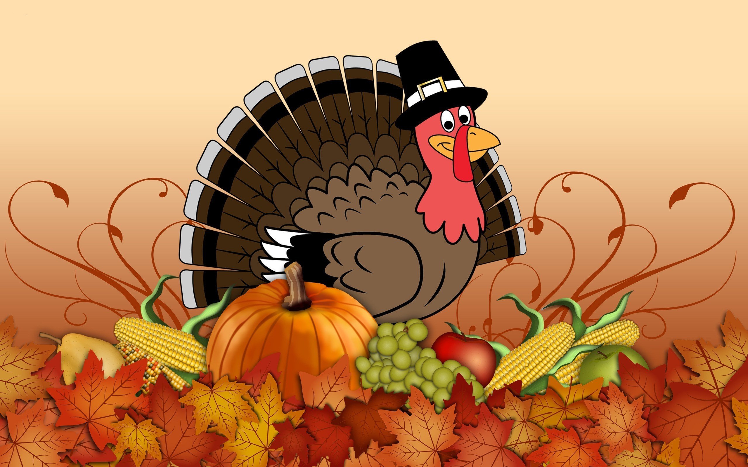2560x1600 Funny Thanksgiving Wallpaper Free.