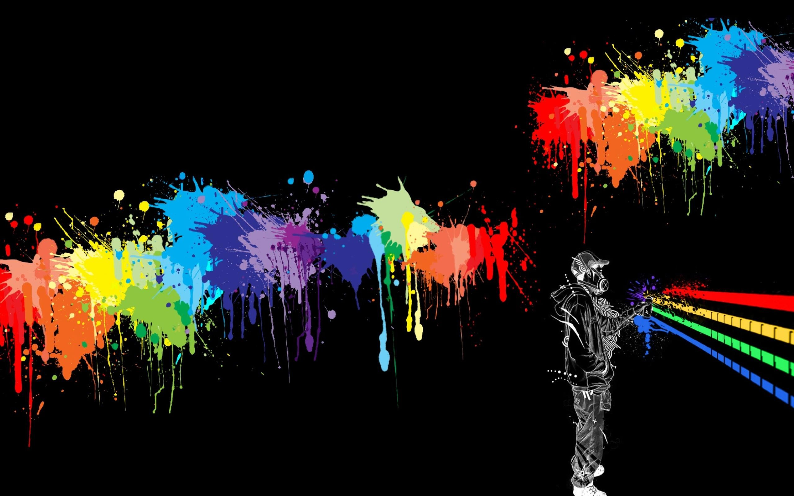 2560x1600 Abstract Colorfull Spray Paint Wallpaper