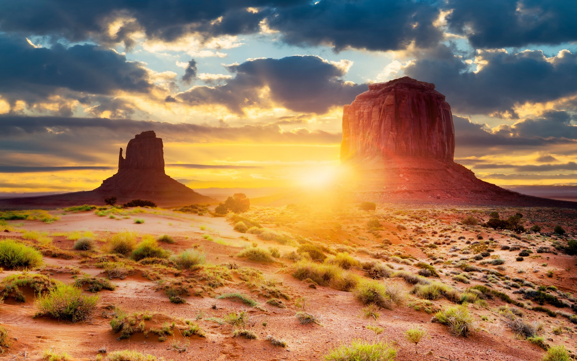 1920x1200 Monument Valley Arizona Sunny wallpapers and stock photos