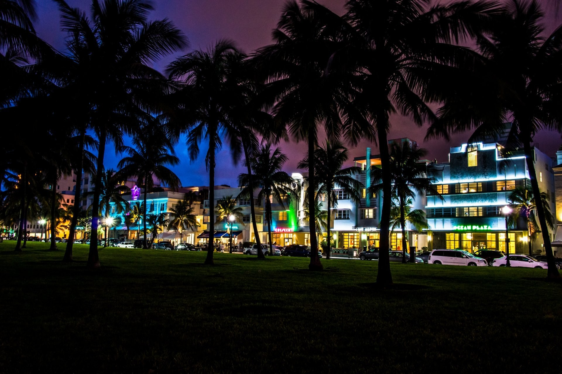 1920x1280 miami florida florida miami south beach night palm cars house hotels vice  city