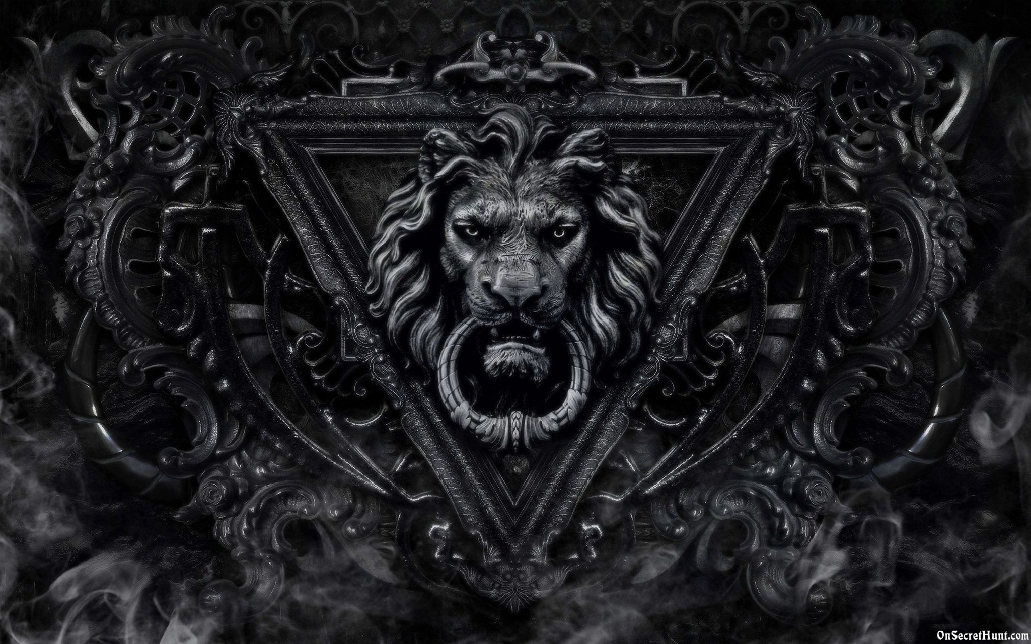 Black Wallpaper Iphone: Black And White Lion Wallpaper (51+ Images
