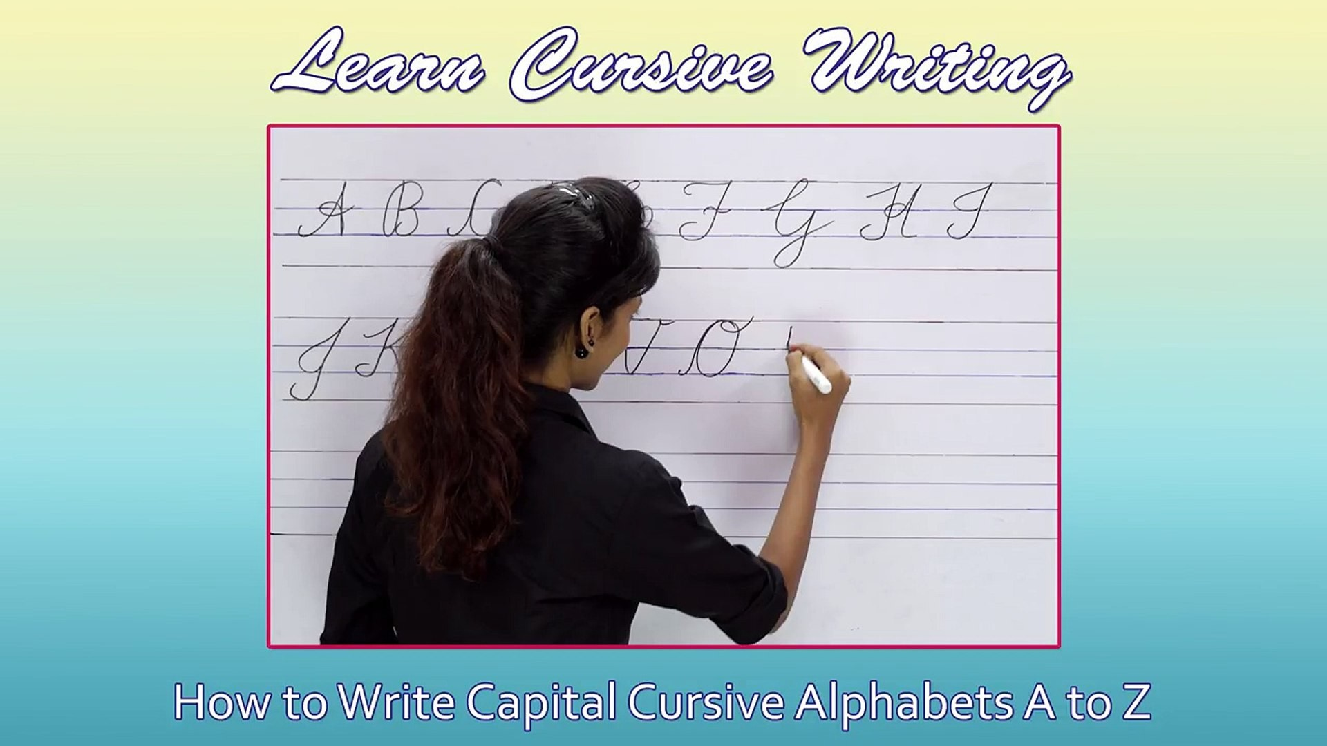 1920x1080 Cursive Writing For Beginners | Writing Cursive Alphabets : Capital | Cursive  Handwriting Price - video dailymotion