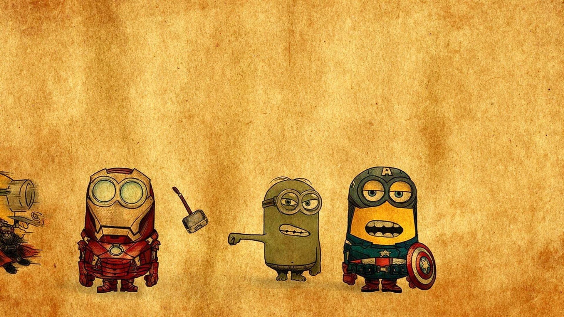 1920x1080 Minions-Avengers-Drawing-HD-Wallpapers