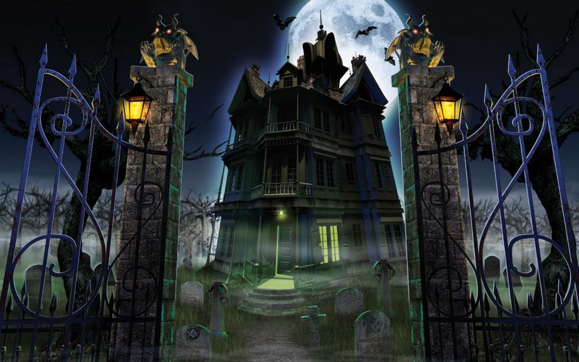 1920x1200 Halloween Haunted House Wallpapers – Festival Collections