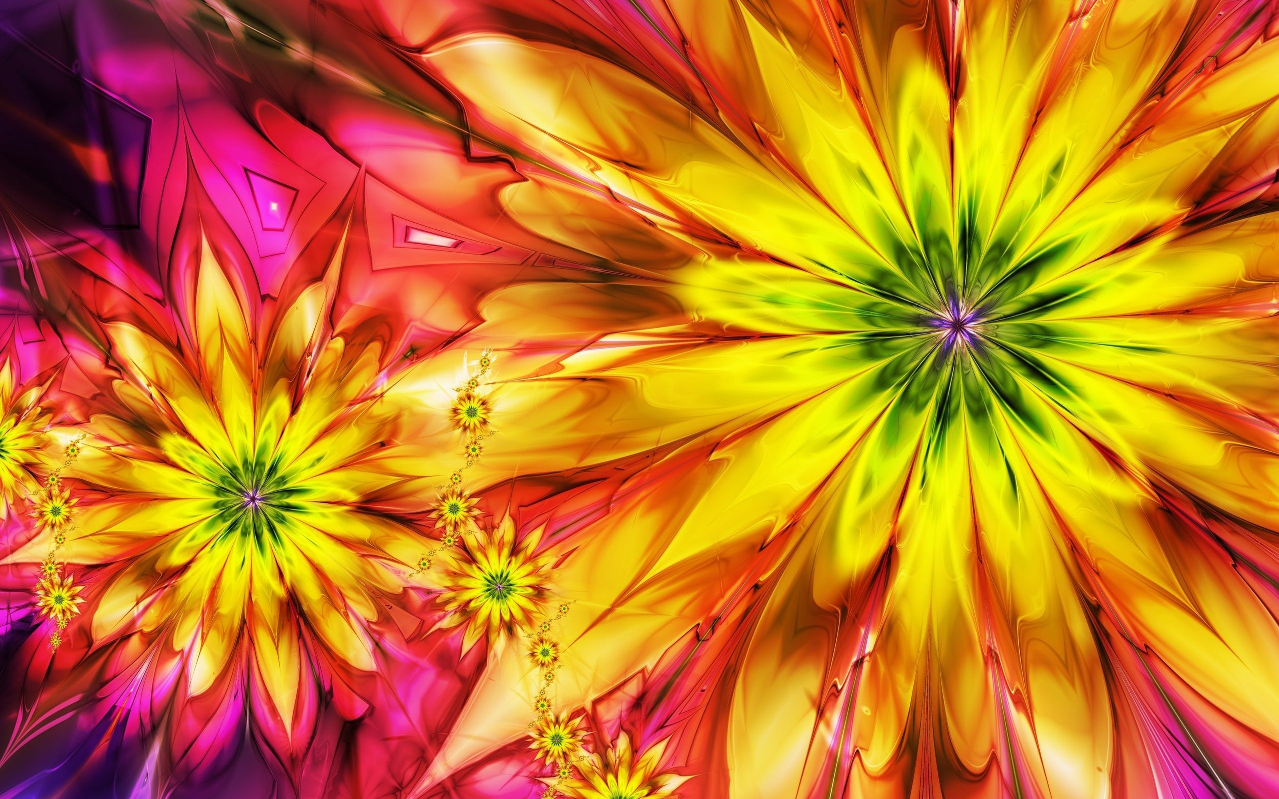2560x1600 Free colorful flowers 3d hd wallpapers download