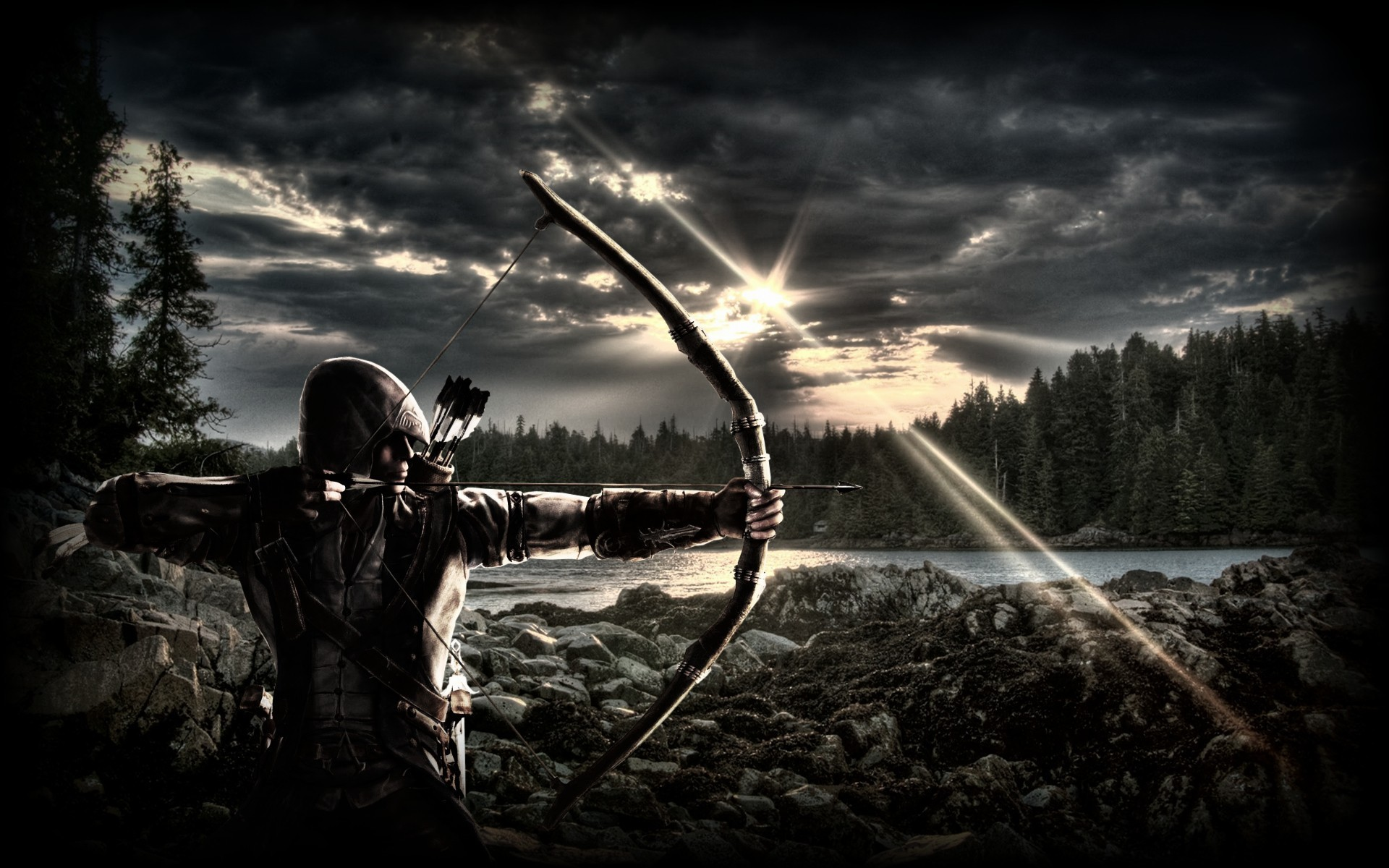 1920x1200 archery free hd wallpapers for desktop