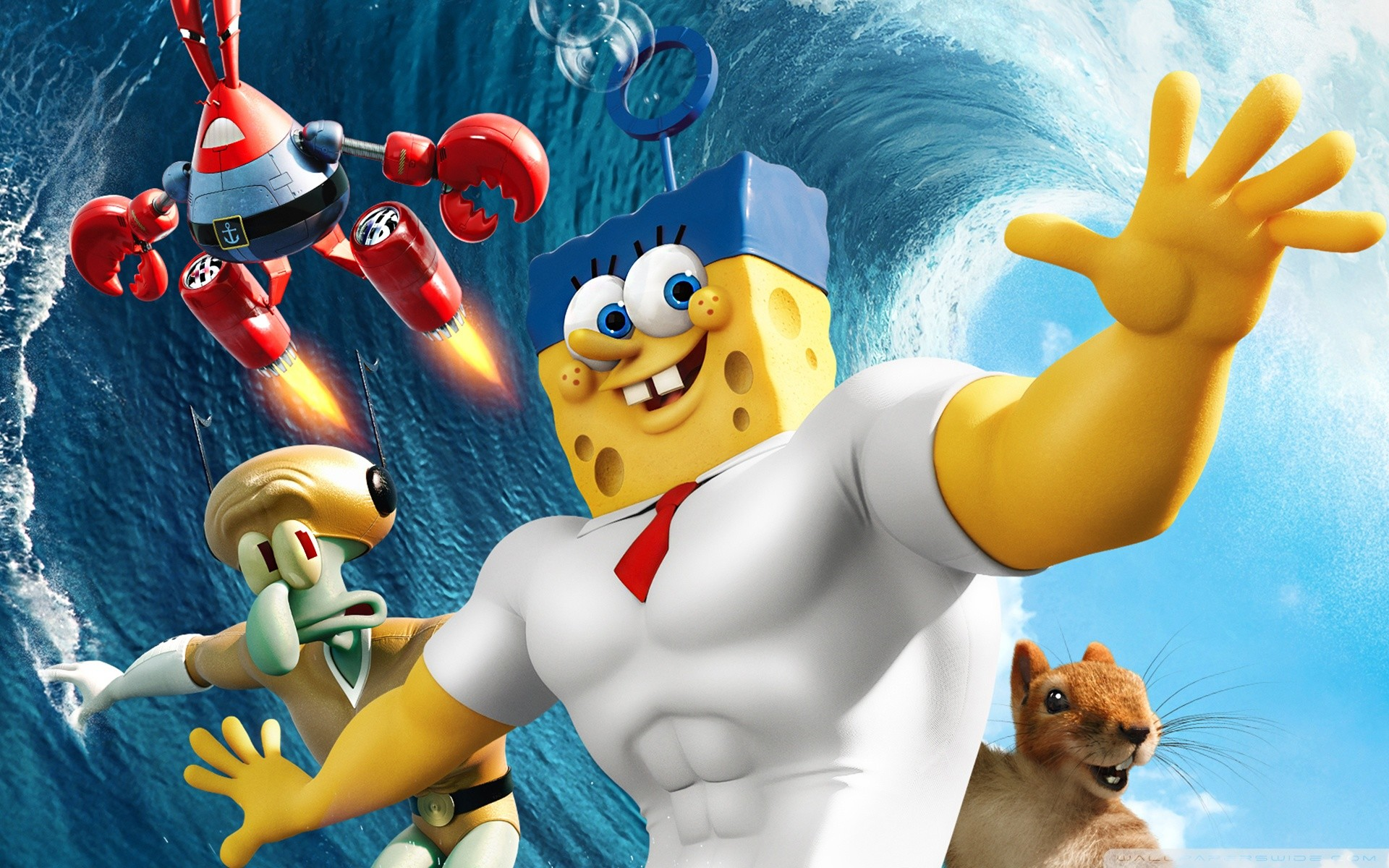 1920x1200 The SpongeBob Movie: Sponge Out of Water Wallpapers