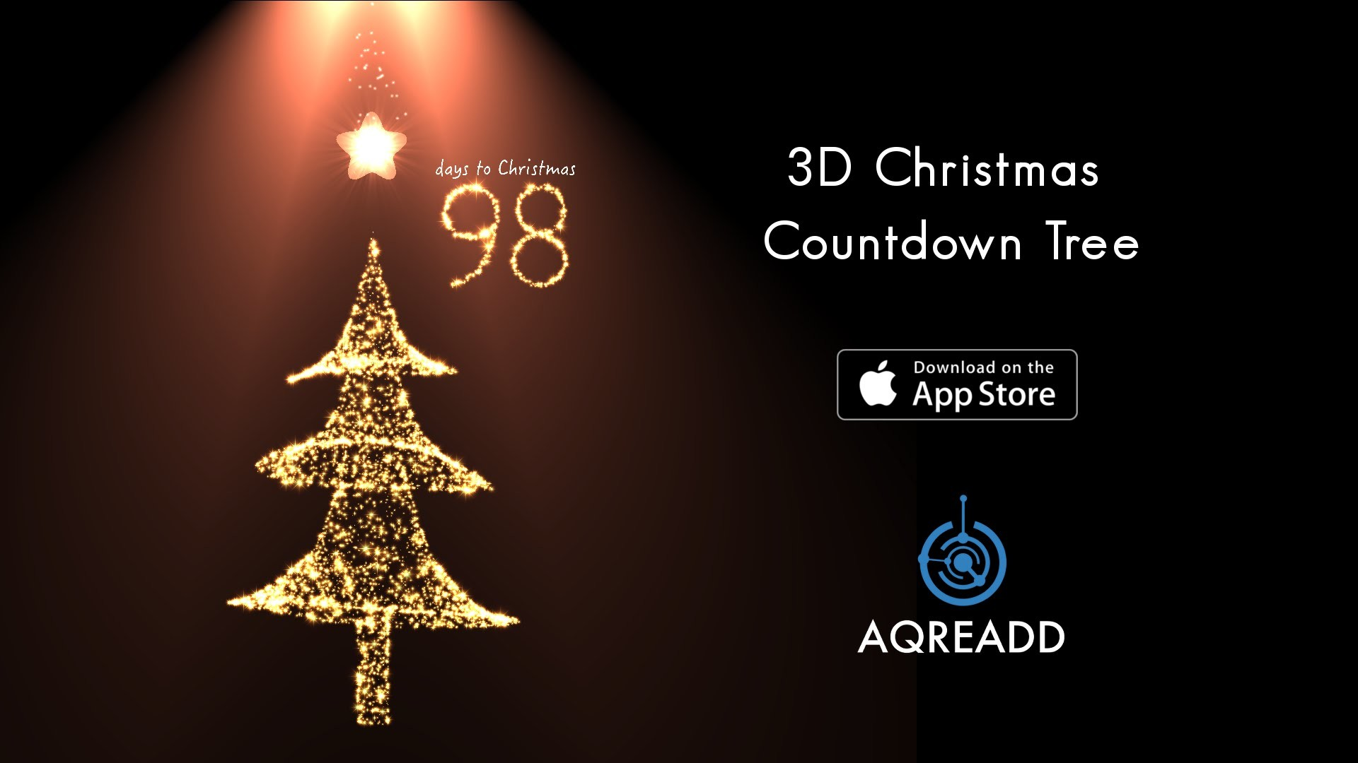 1920x1080 3D Christmas Countdown Tree for iPhone 6, iPhone 6 plus, iPhone 5s &