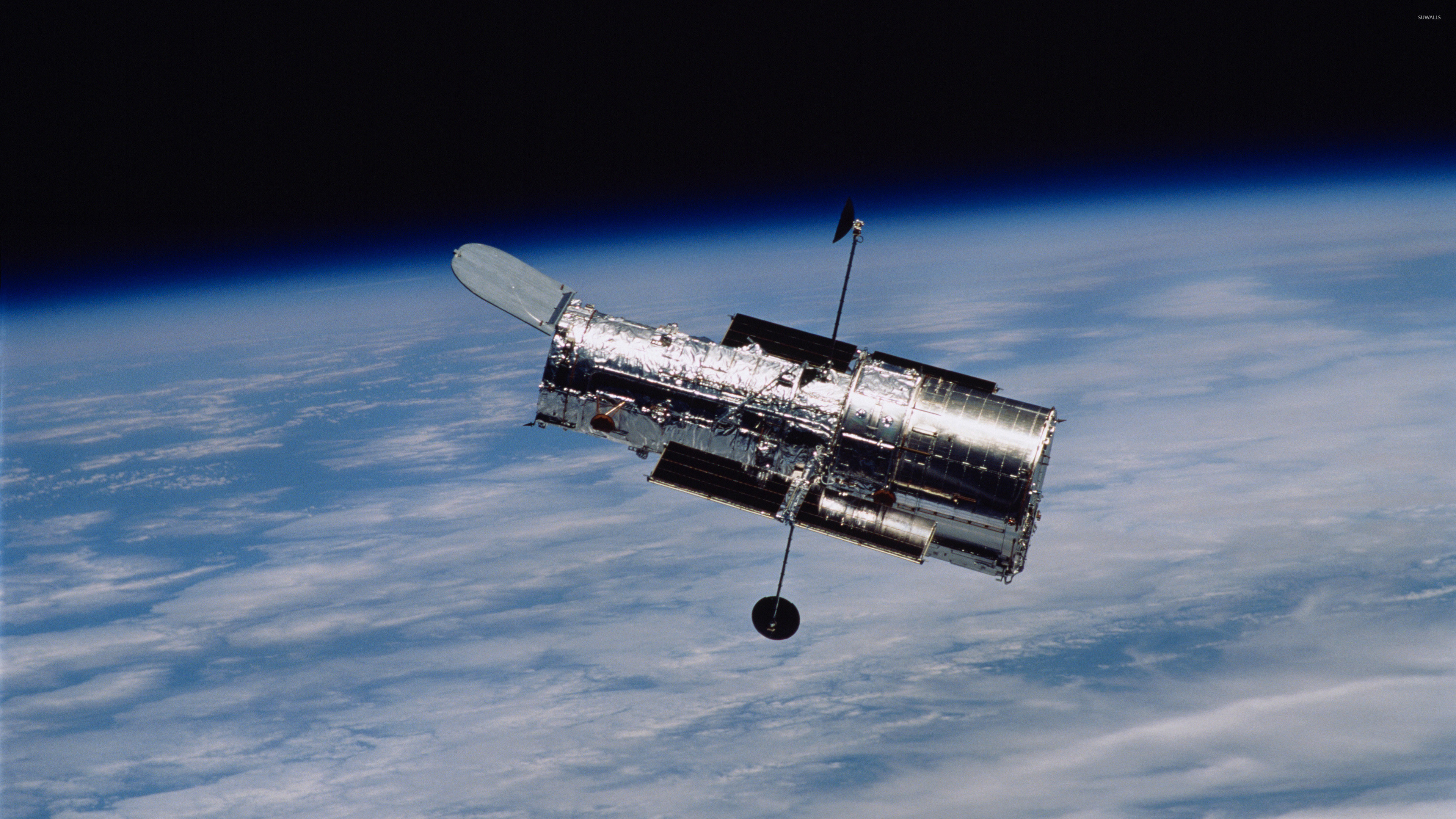 3840x2160 Hubble Space Telescope in orbit wallpaper  jpg