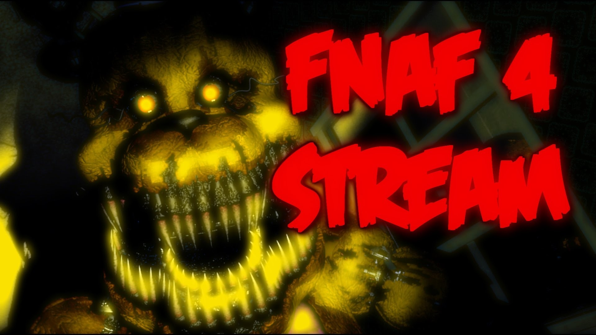 1920x1080 FNAF 4 HALLOWEEN LIVESTREAM! | Five Nights at Freddy's 4 Announcement