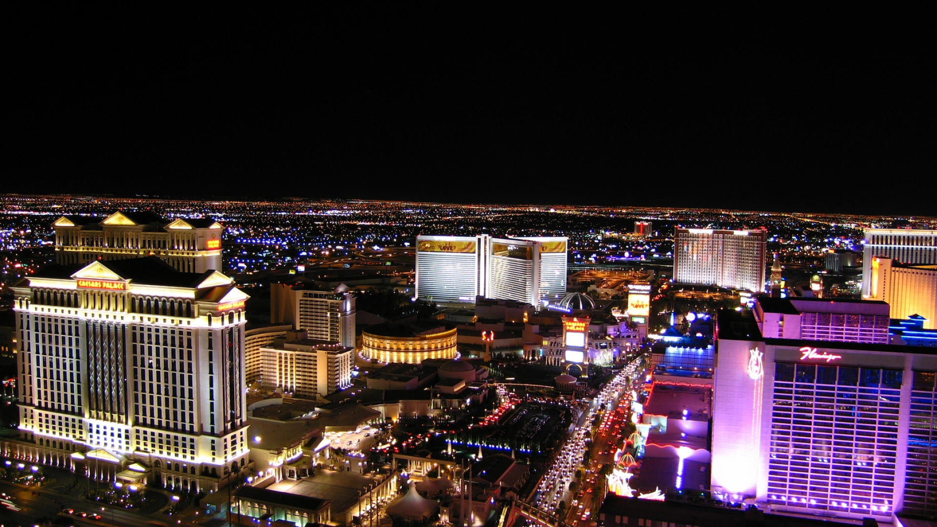 1920x1080 Preview wallpaper las vegas, night, hotels, roads, cars