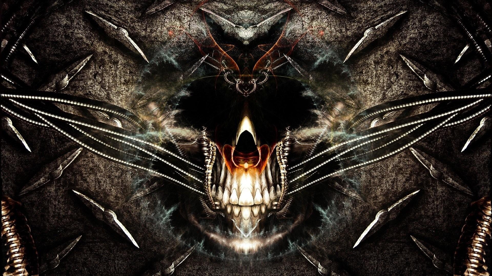 Dark skull wallpapers 42 images - Skeleton wallpaper ...