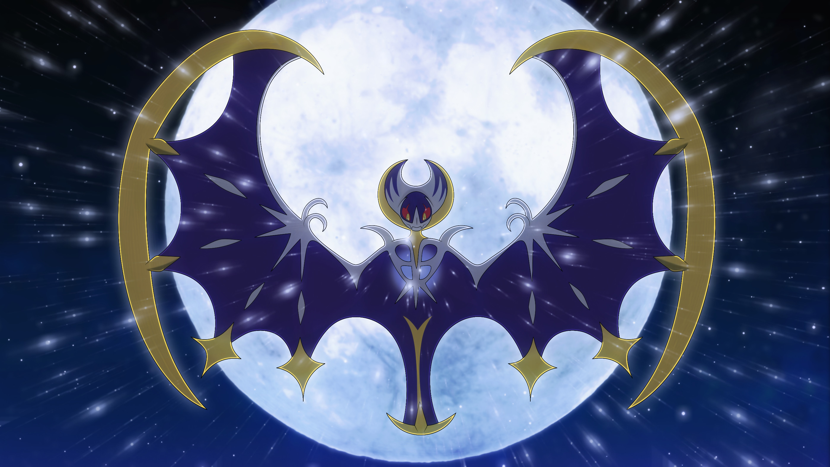 2800x1575 Video Game - Pokémon Sun and Moon Lunala (Pokémon) Pokémon Pokémon Moon  Wallpaper