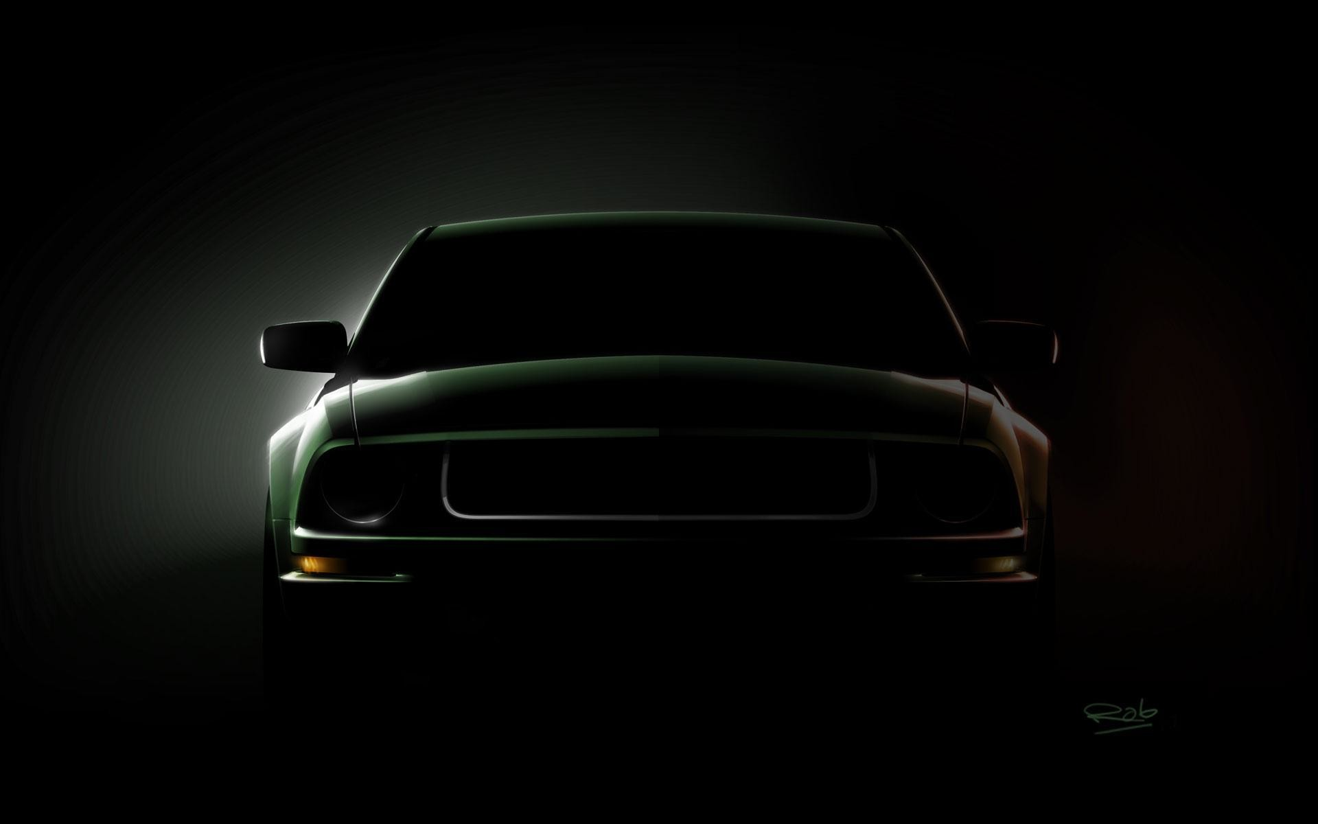 1920x1200 Mustang Logo Black Backgrounds