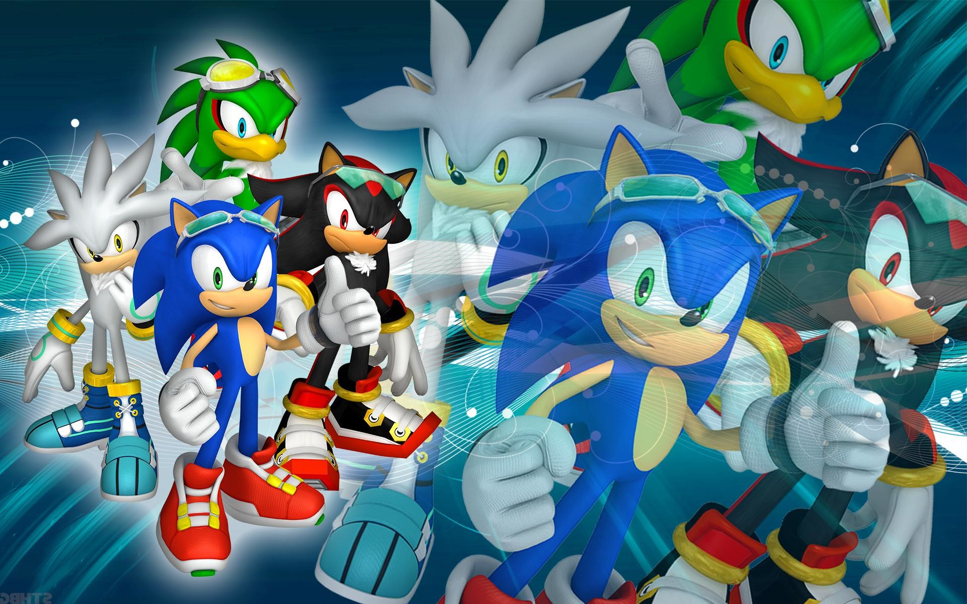 1920x1200 Best HD Sonic Shadow Silver And Jet Sfr Wallpaper By Sonicthehedgehogbg  Library