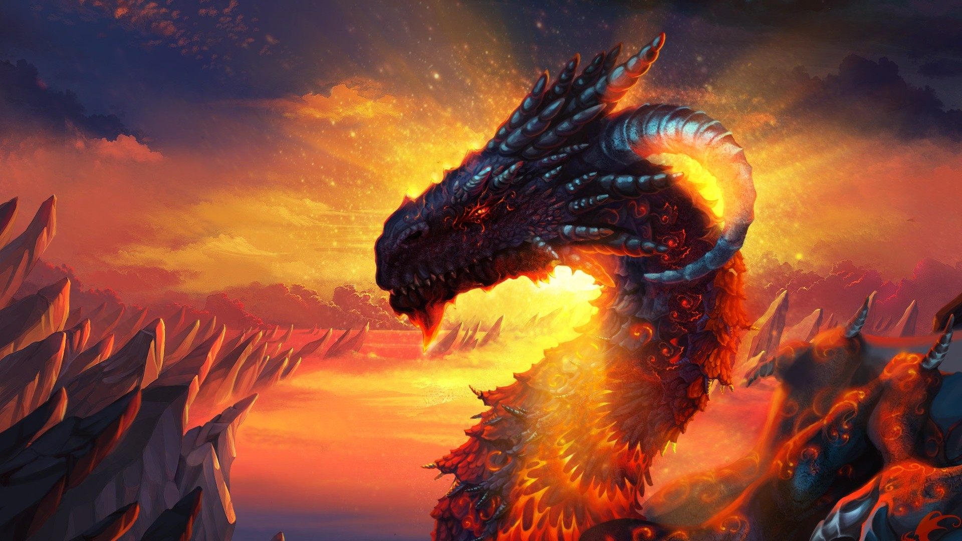 1920x1080 Hd Wallpaper  Dragon Dragon lava sky hd wallpaper