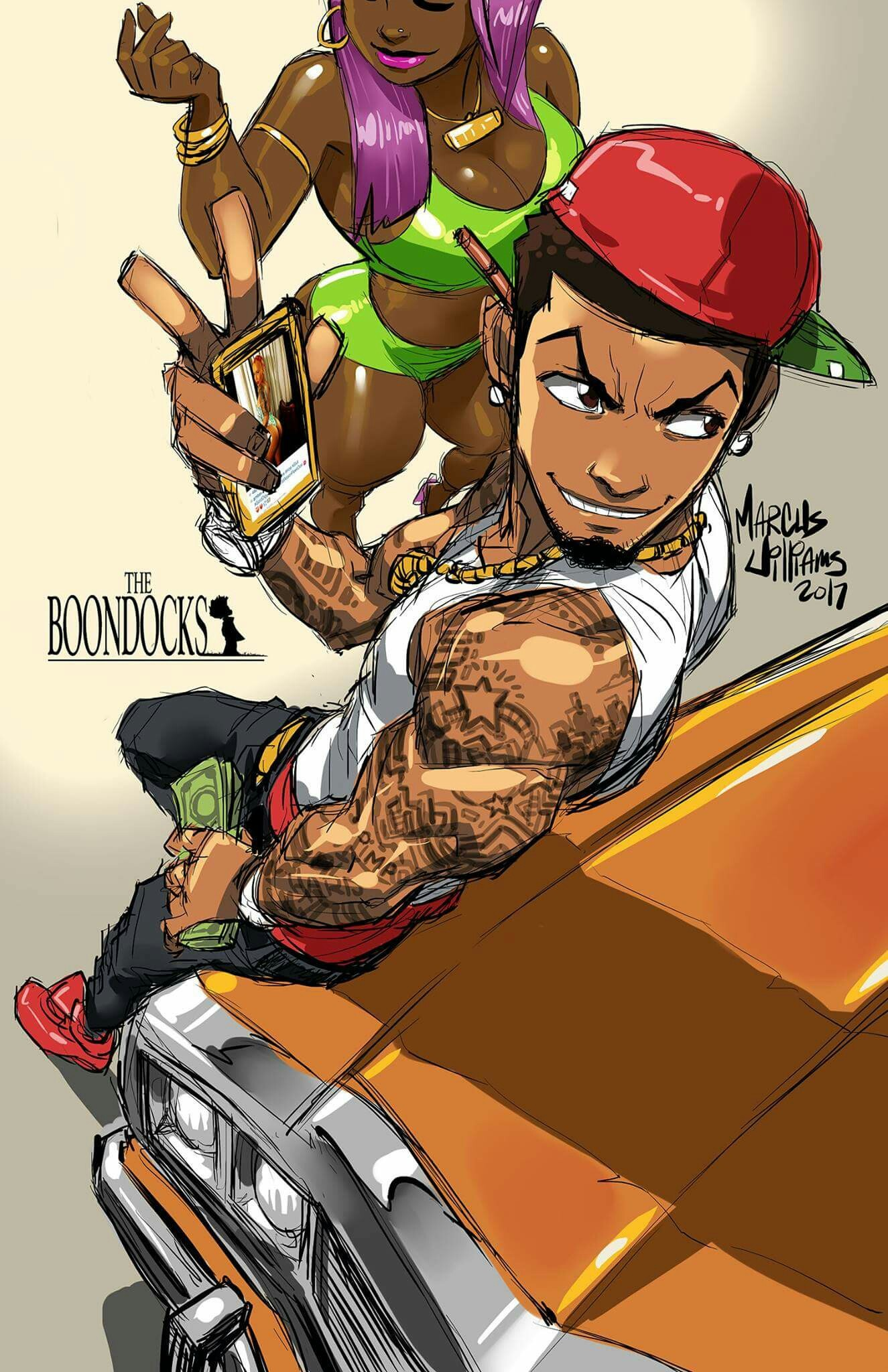 2137x1426 EarnSomeHeight 35 4 Boondocks Me By LadyDeadQuinn