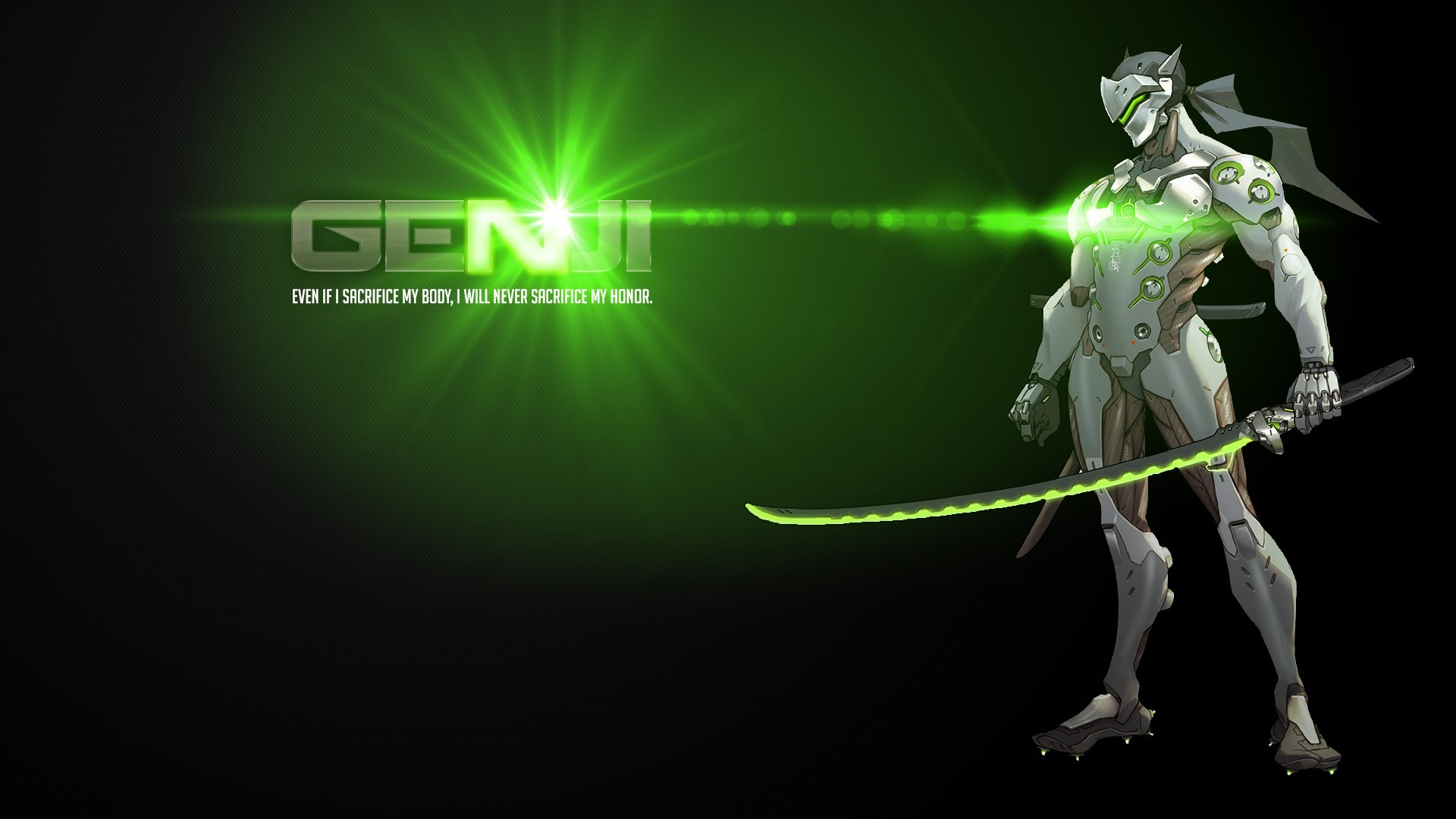 1920x1080 Genji Shimada, Blizzard Entertainment, Overwatch, Genji (Overwatch)  Wallpapers HD / Desktop and Mobile Backgrounds