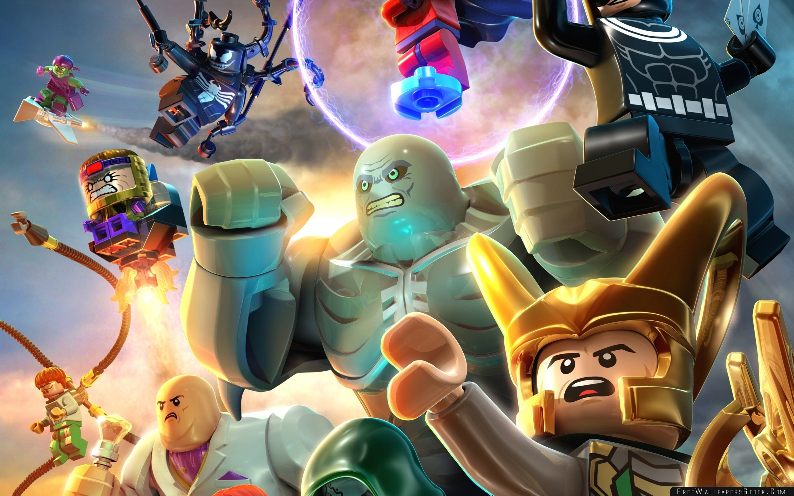 2560x1600 Lego Marvel Super Heroes Villains Wallpaper