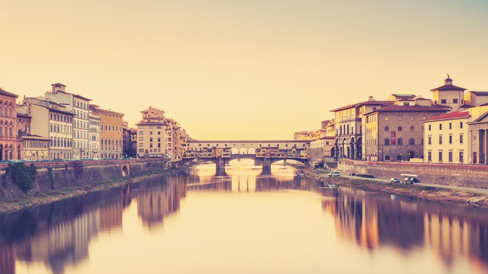 1920x1080 florence italy river bridge building day Full HD 1080p HD