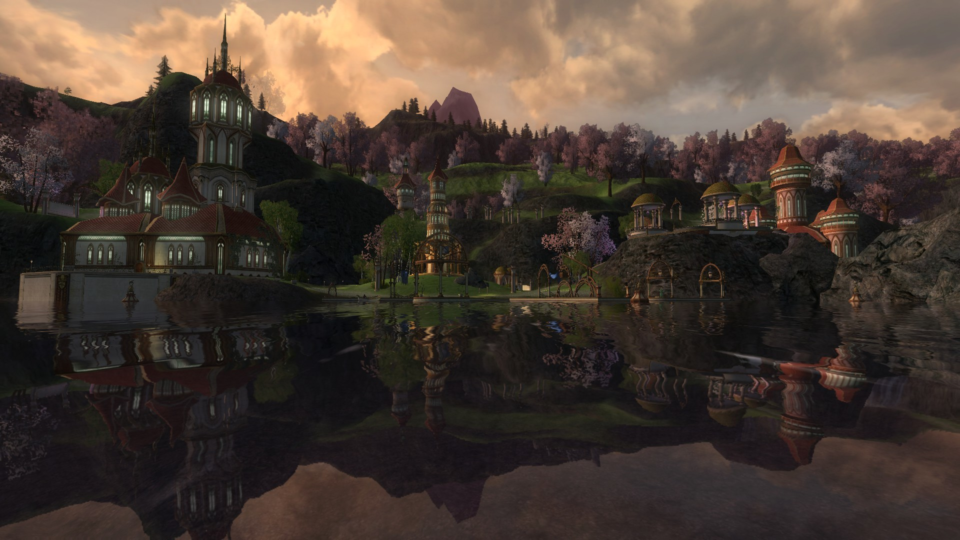 1920x1080 The Elf City of Celondim - Lord of the Rings Online LOTRO gaming games  images pictures