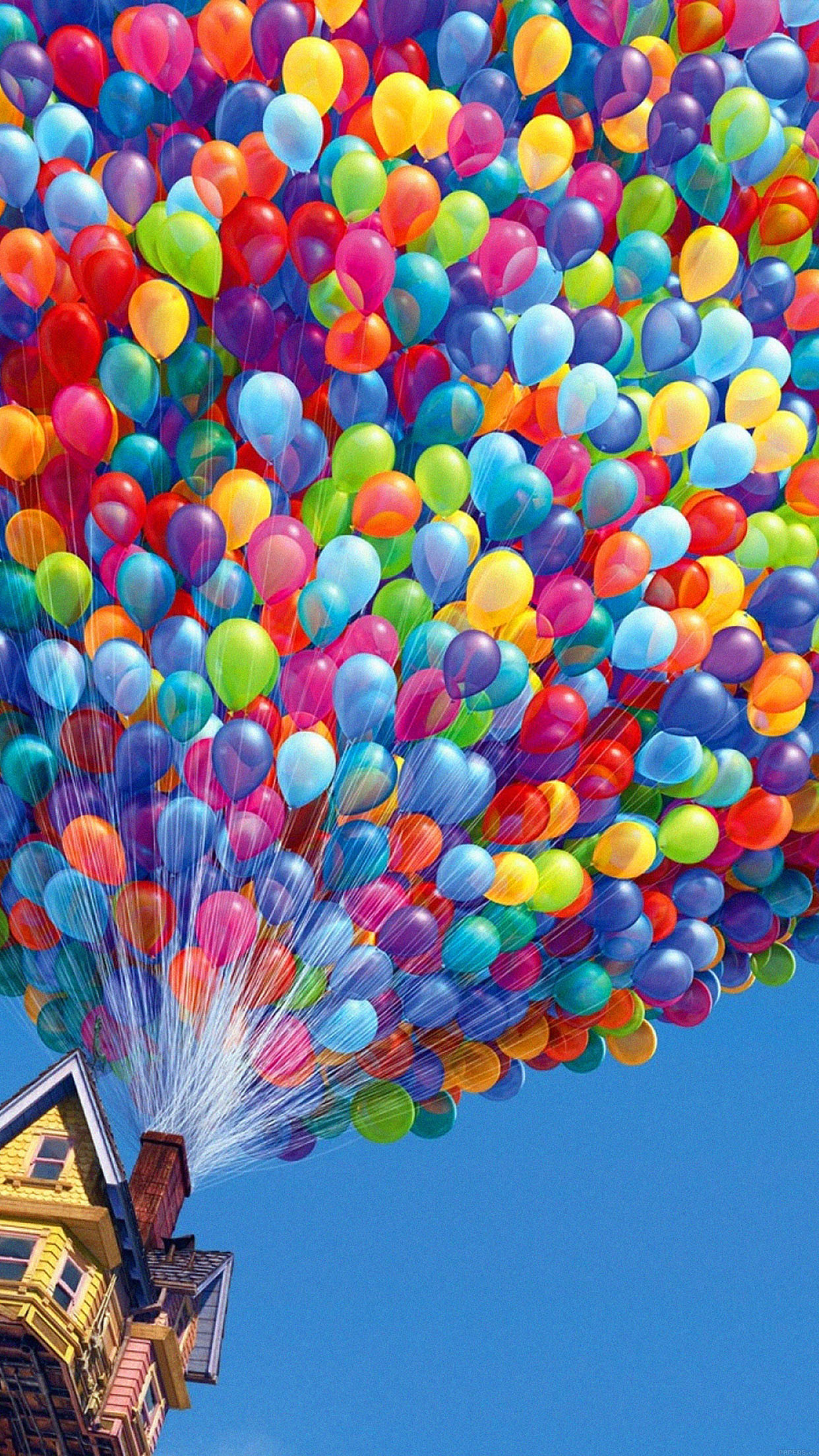 1242x2208 Colorful House Air Balloons iPhone 6 Plus HD Wallpaper ...