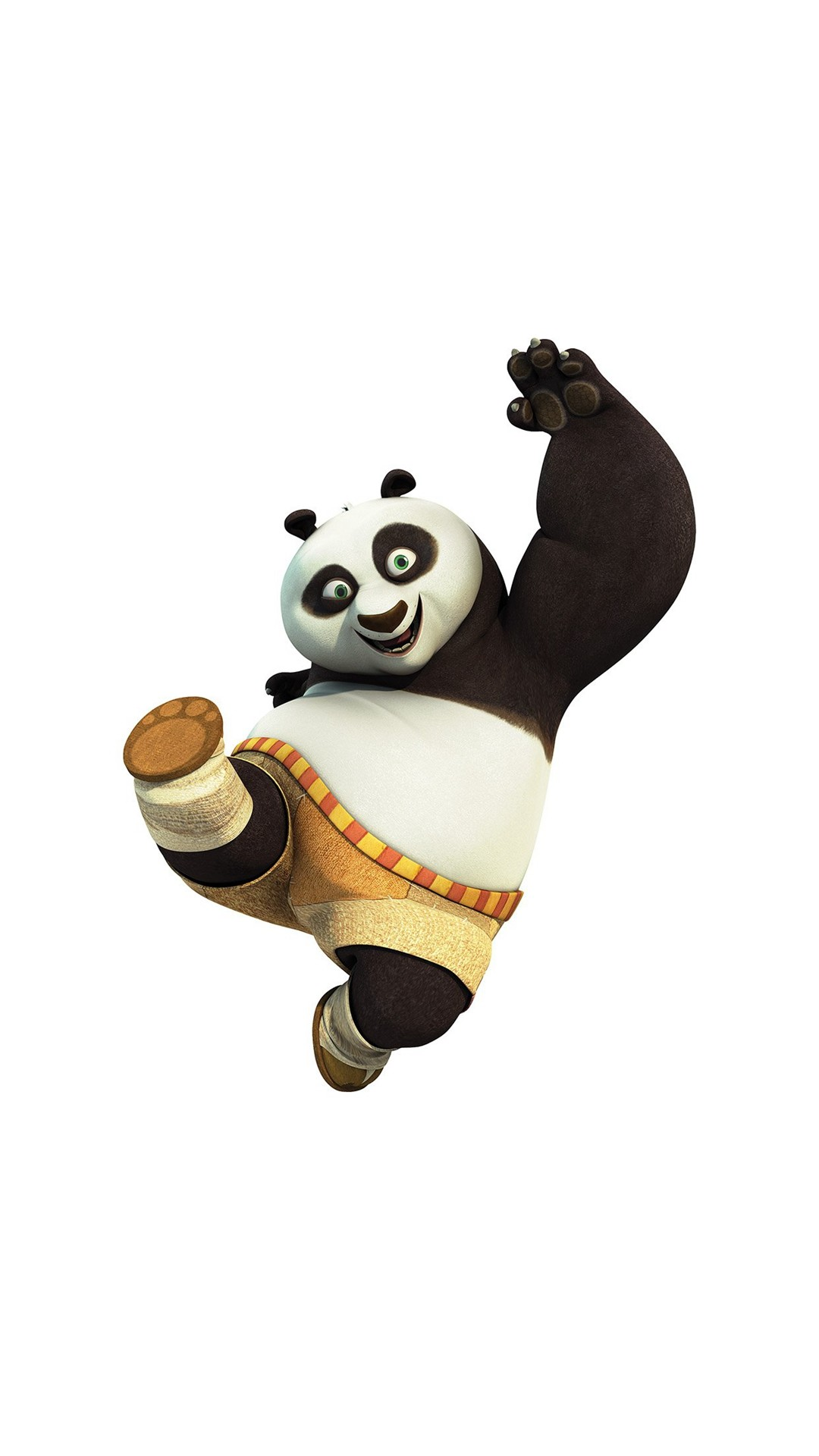 1080x1920 Kungfu Panda Animal Dreamworks Kick Cute Anime #iPhone #6 #plus #wallpaper