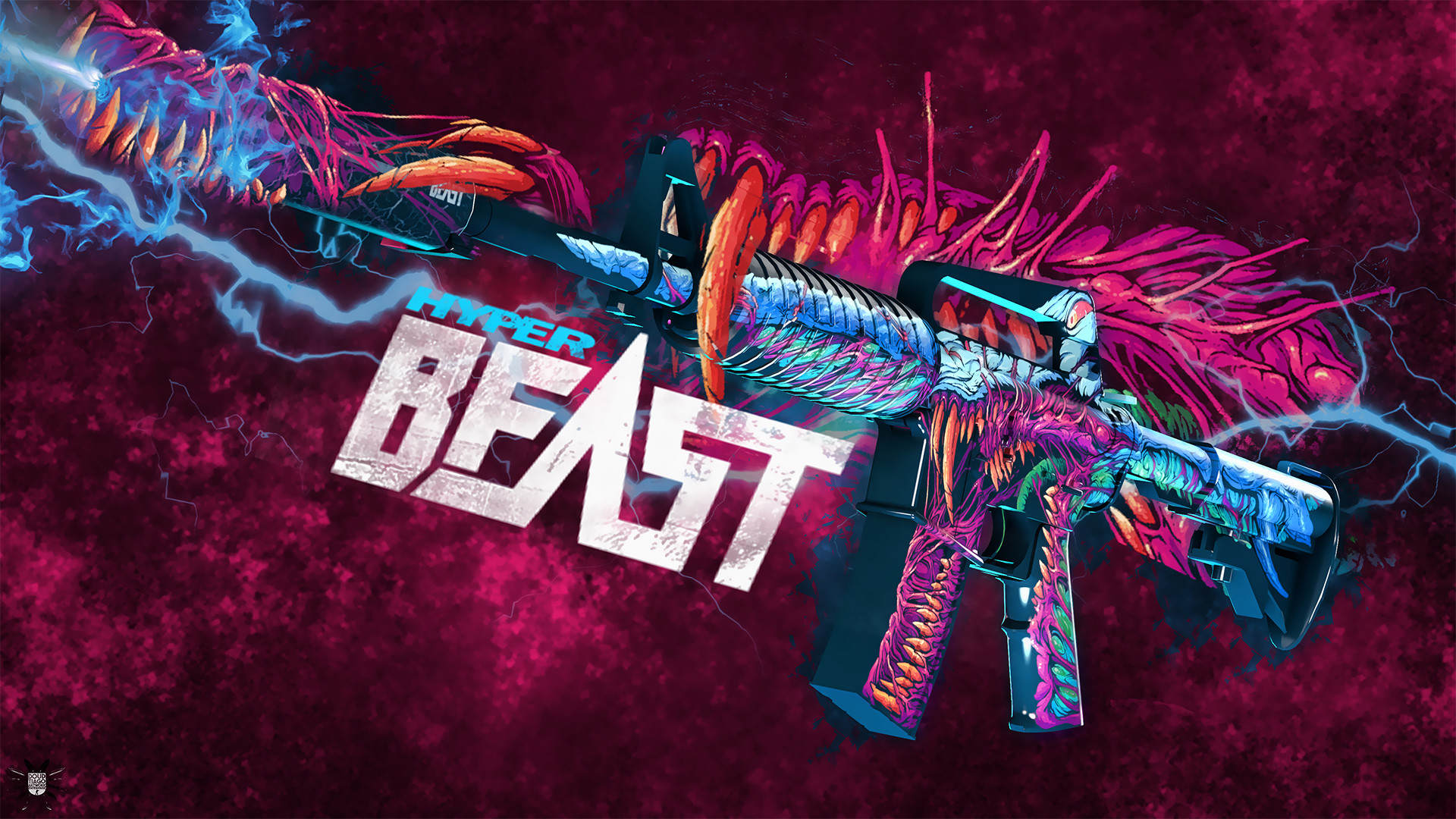 1920x1080 M4A1 Hyper Beast CSGO Wallpapers