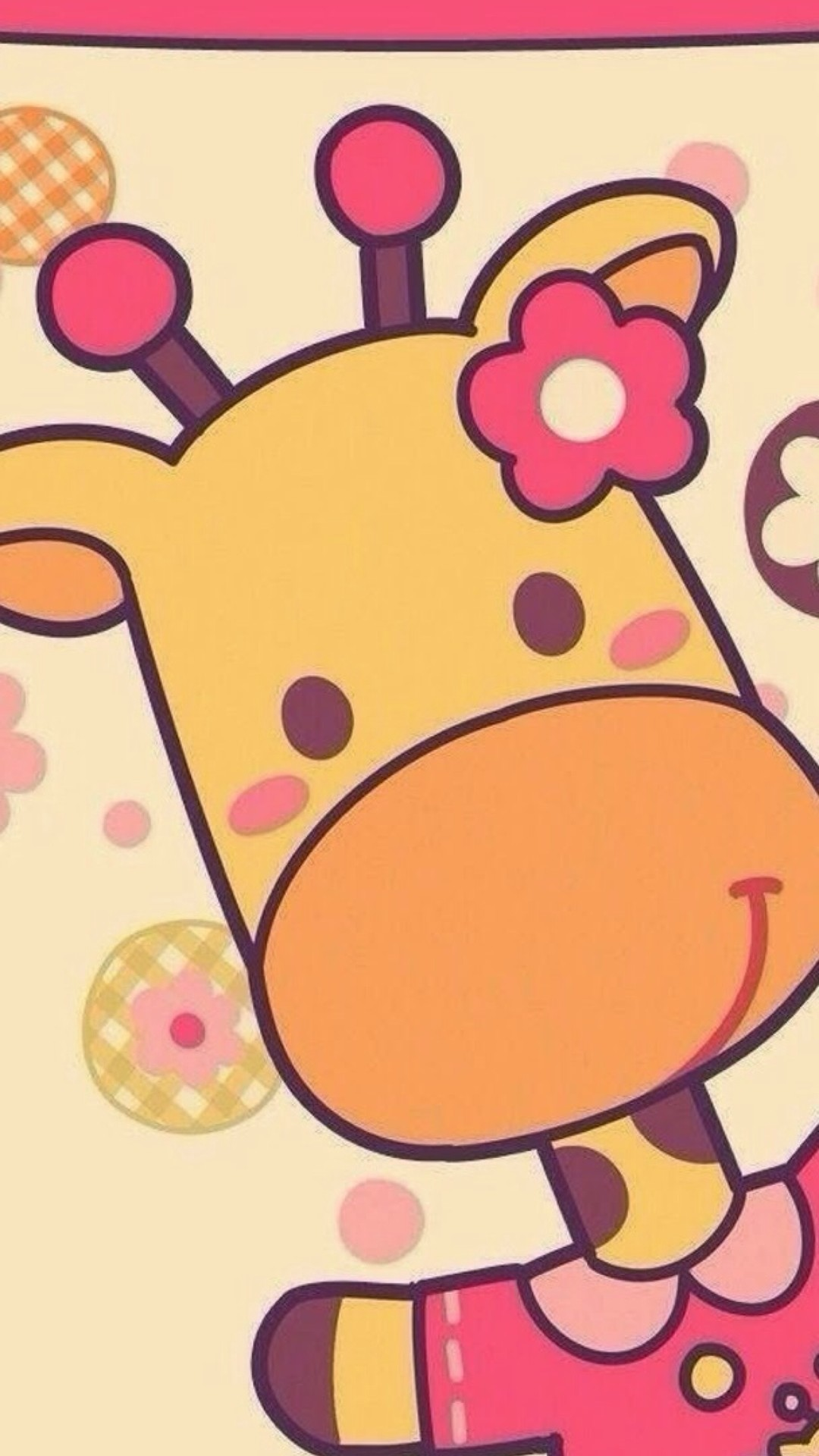 1080x1920 Cute giraffe iphone wallpaper - photo#9
