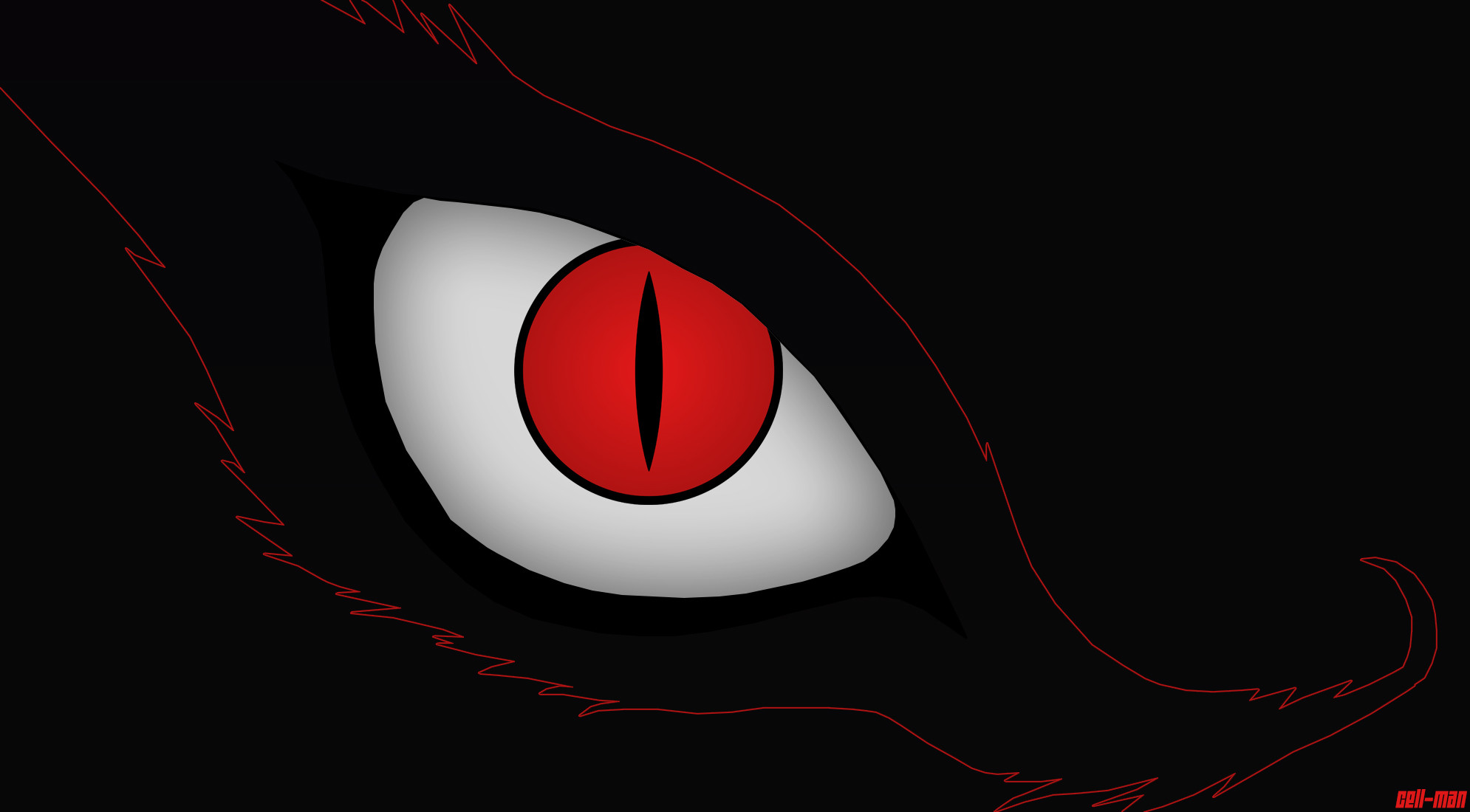 1990x1100 ... Kyuubi (Nine Tails Demon Fox)'s Eye Wallpaper by CELL-MAN