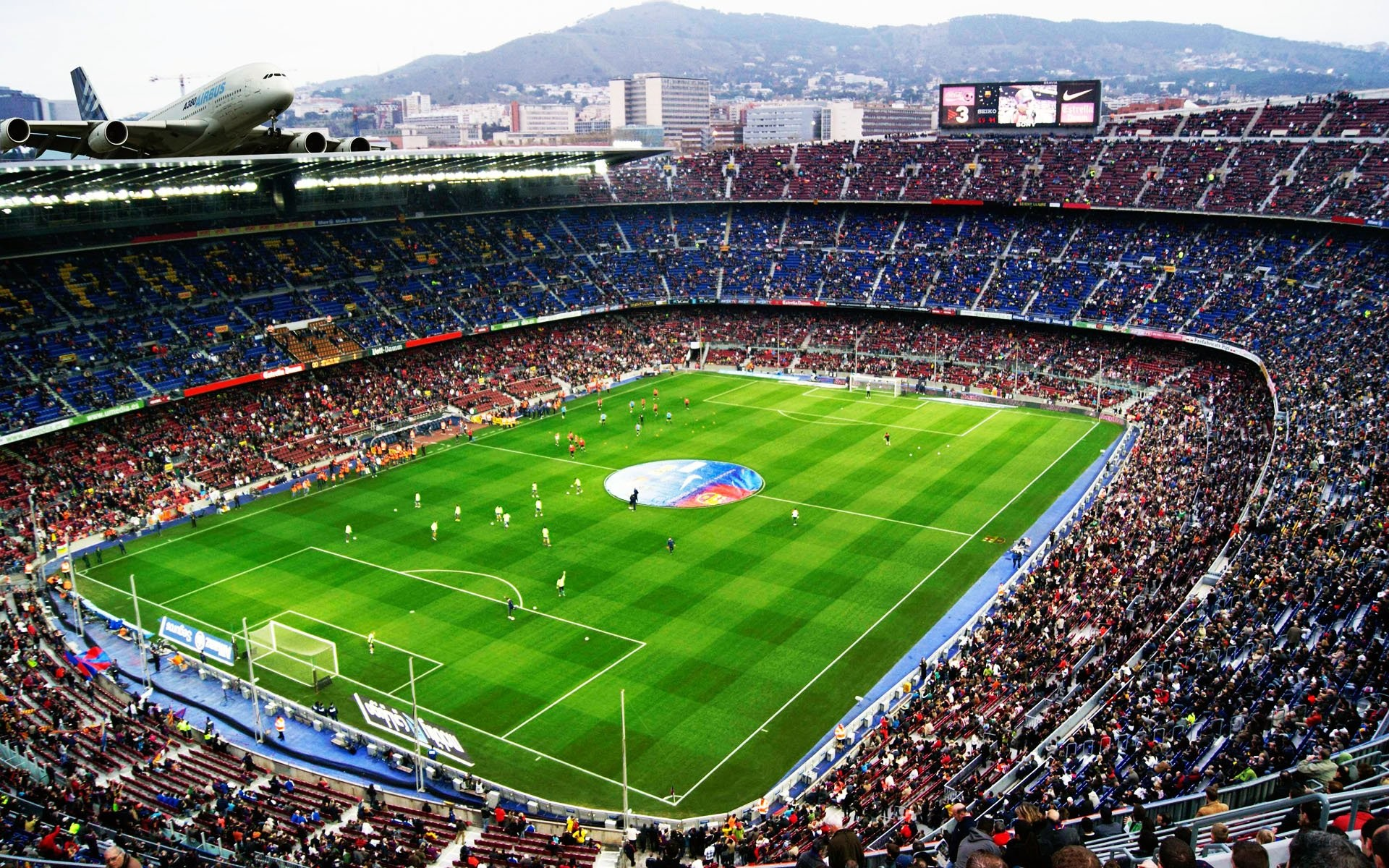 1920x1200 Camp Nou Stadium FC Barcelona Football Wicked Wallpaper FREE