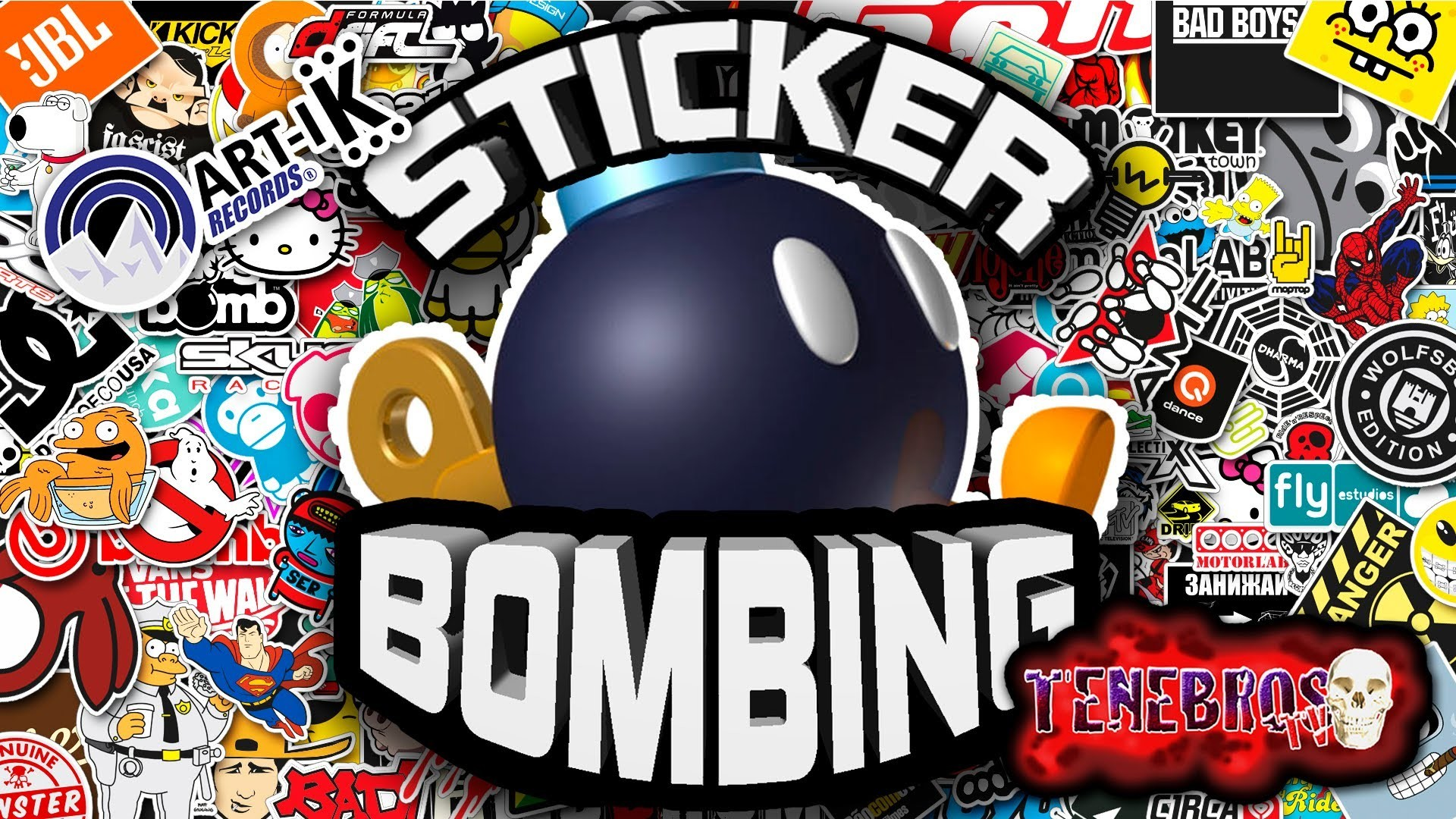 1920x1080 STICKER BOMBING