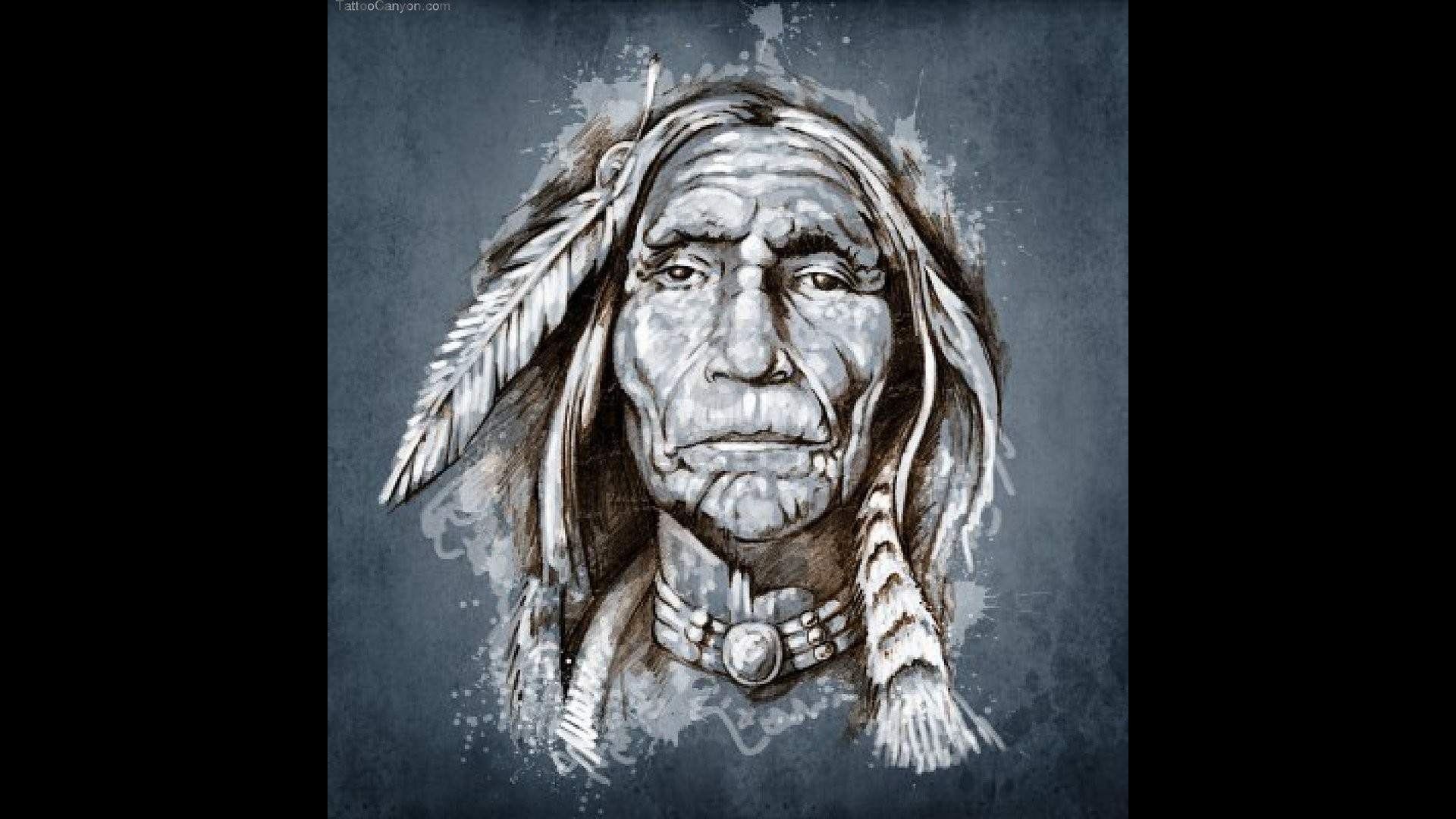 1920x1080 american indian head tattoos clipart