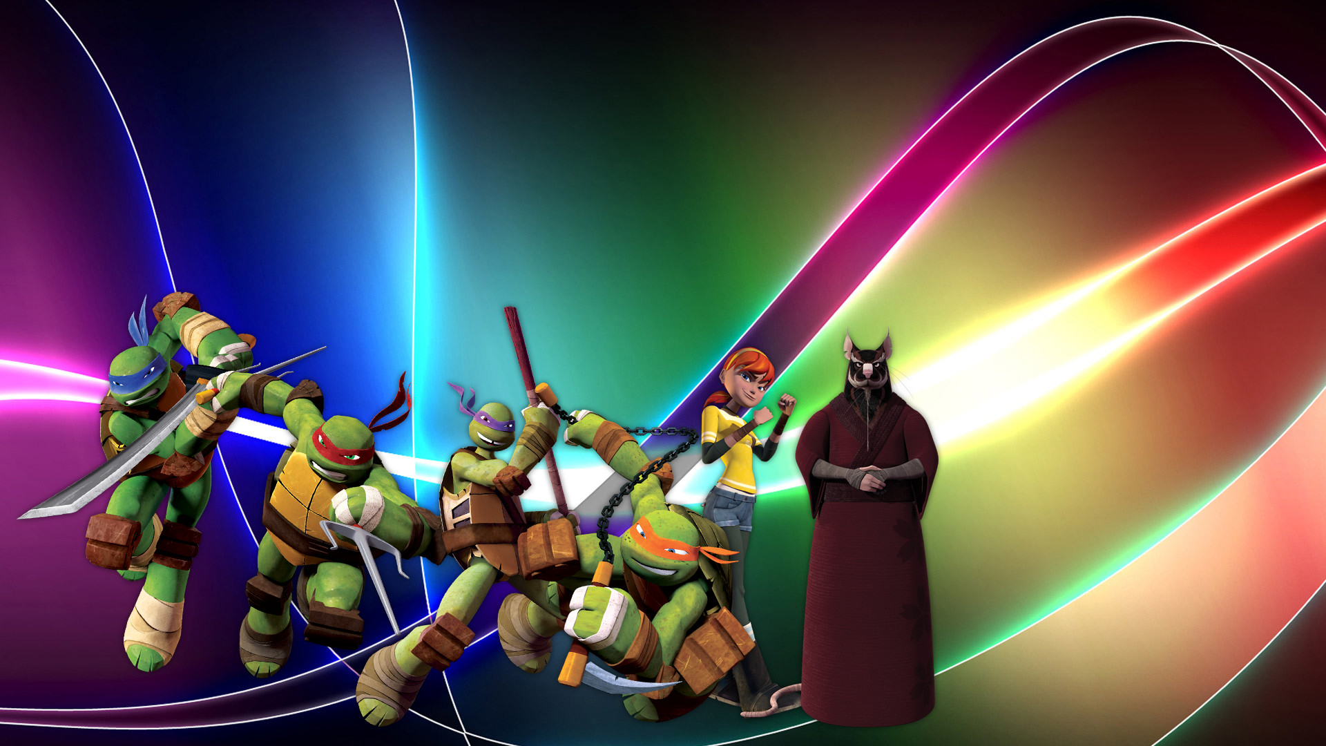 2048x2048 Teenage Mutant Ninja Turtles Idw Comic Ipad Wallpaper Laser Time 05