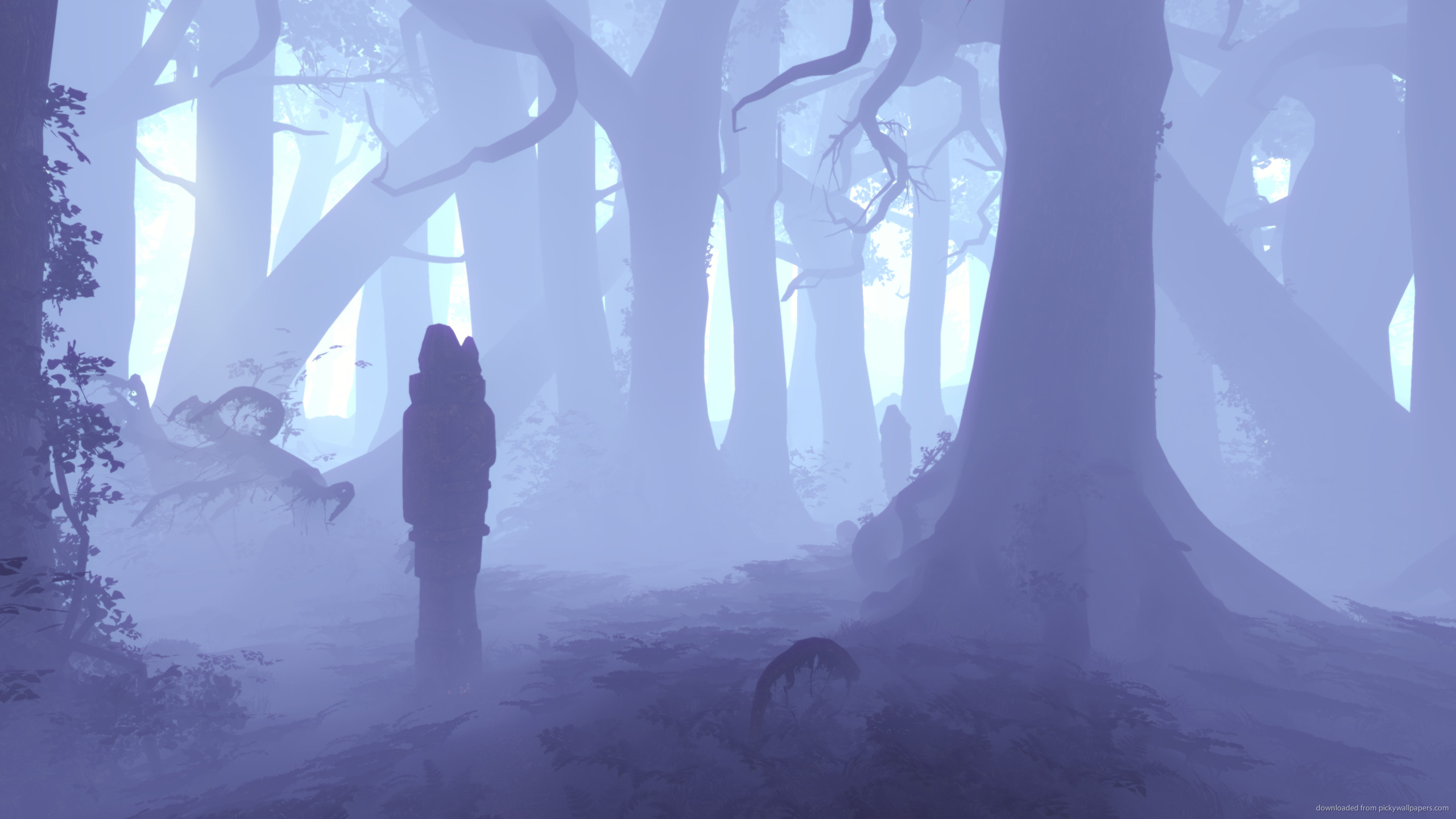 2560x1440 Alan Wake Pale Blue Forest for