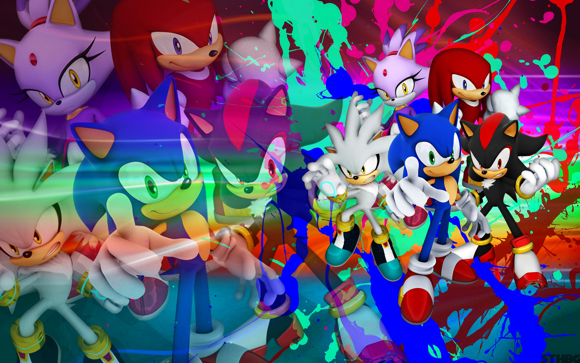 1920x1200 ... SonicTheHedgehogBG Sonic, Shadow, Silver, Blaze, Knuckles - Wallpaper  by SonicTheHedgehogBG