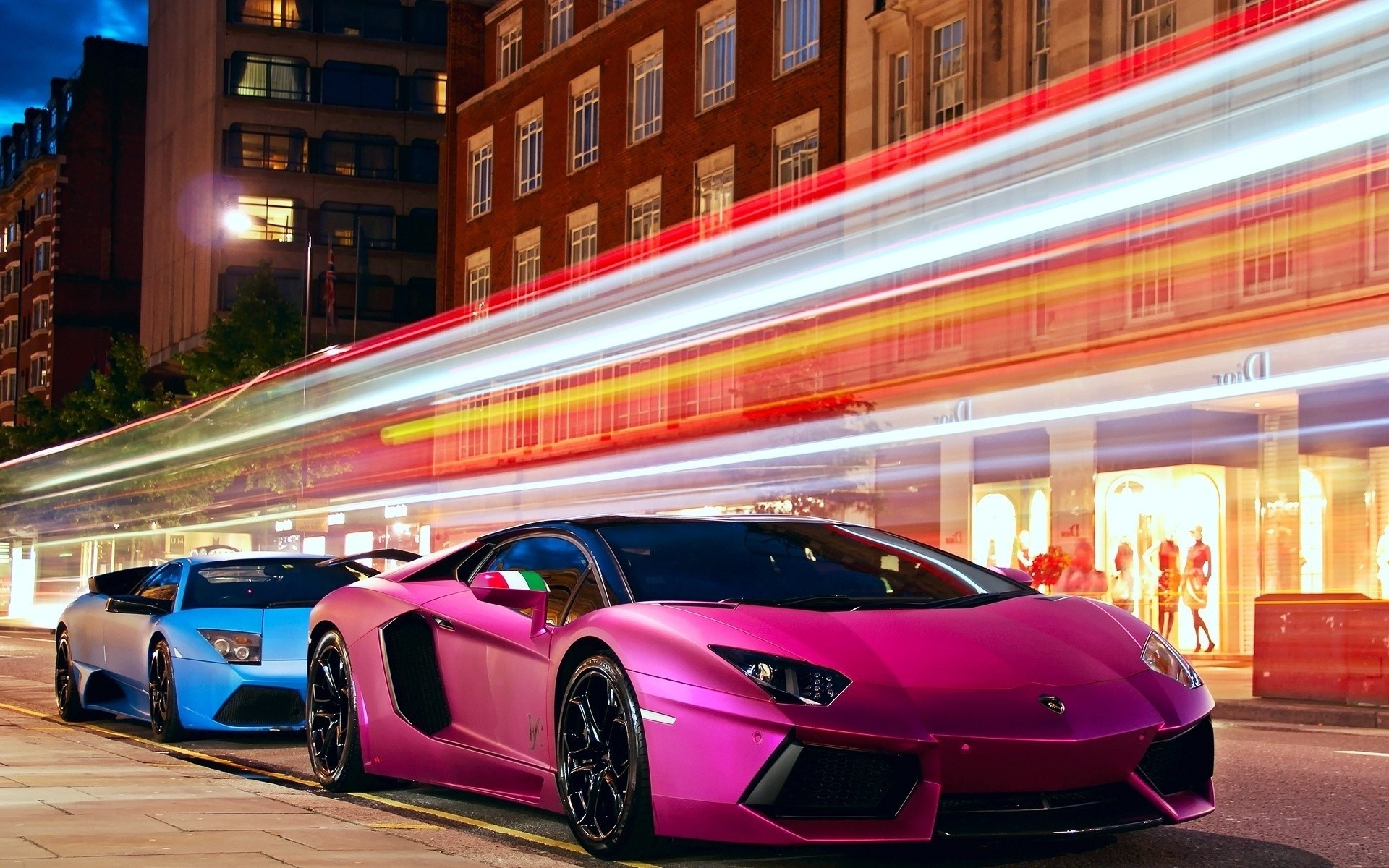 1920x1080 Lamborghini Sesto Elemento Crystal City Car 2014 Pink Neon Design  By