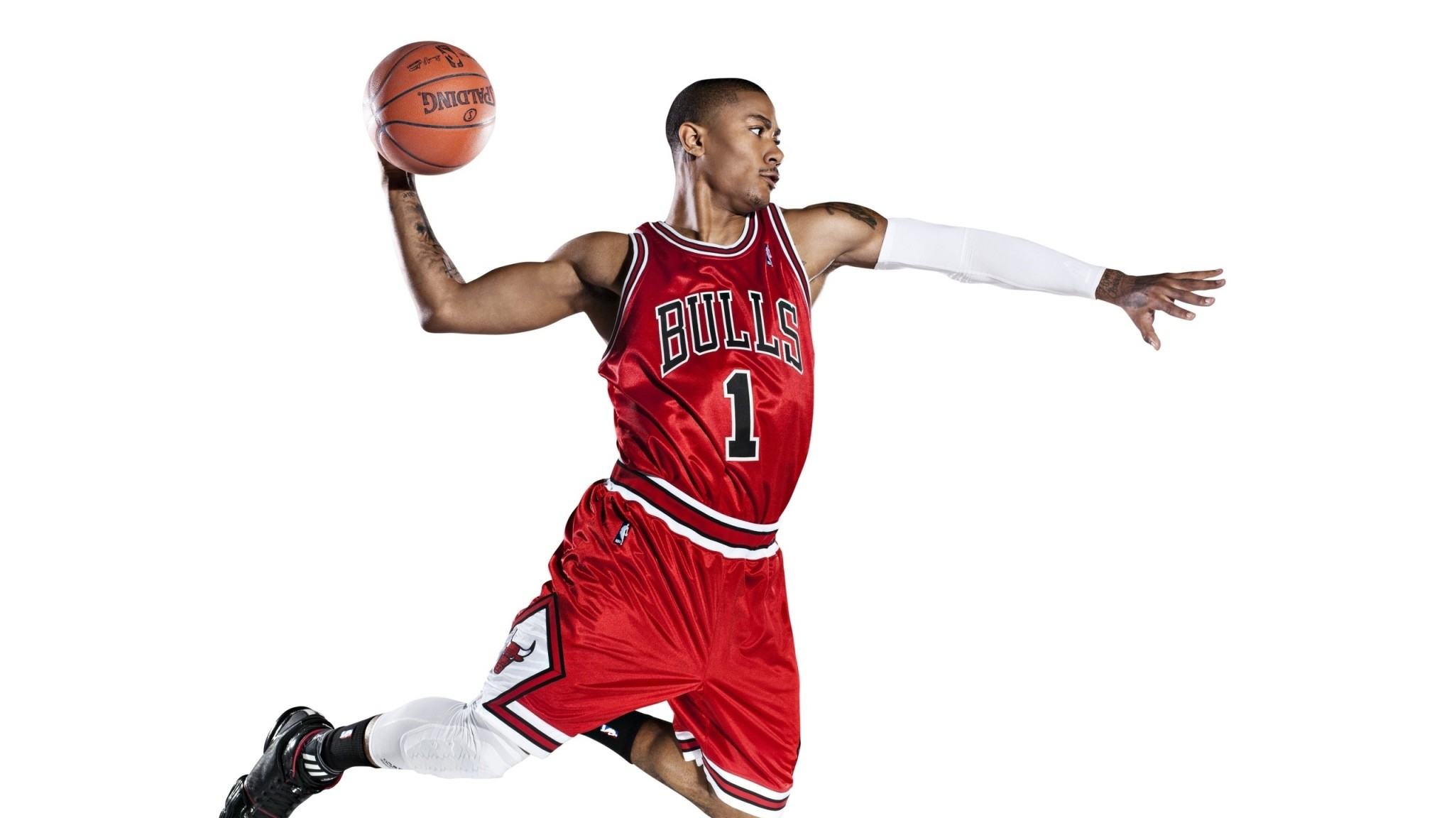 2048x1152 Preview wallpaper chicago bulls, slam dunk, basketball, nba, derrick rose