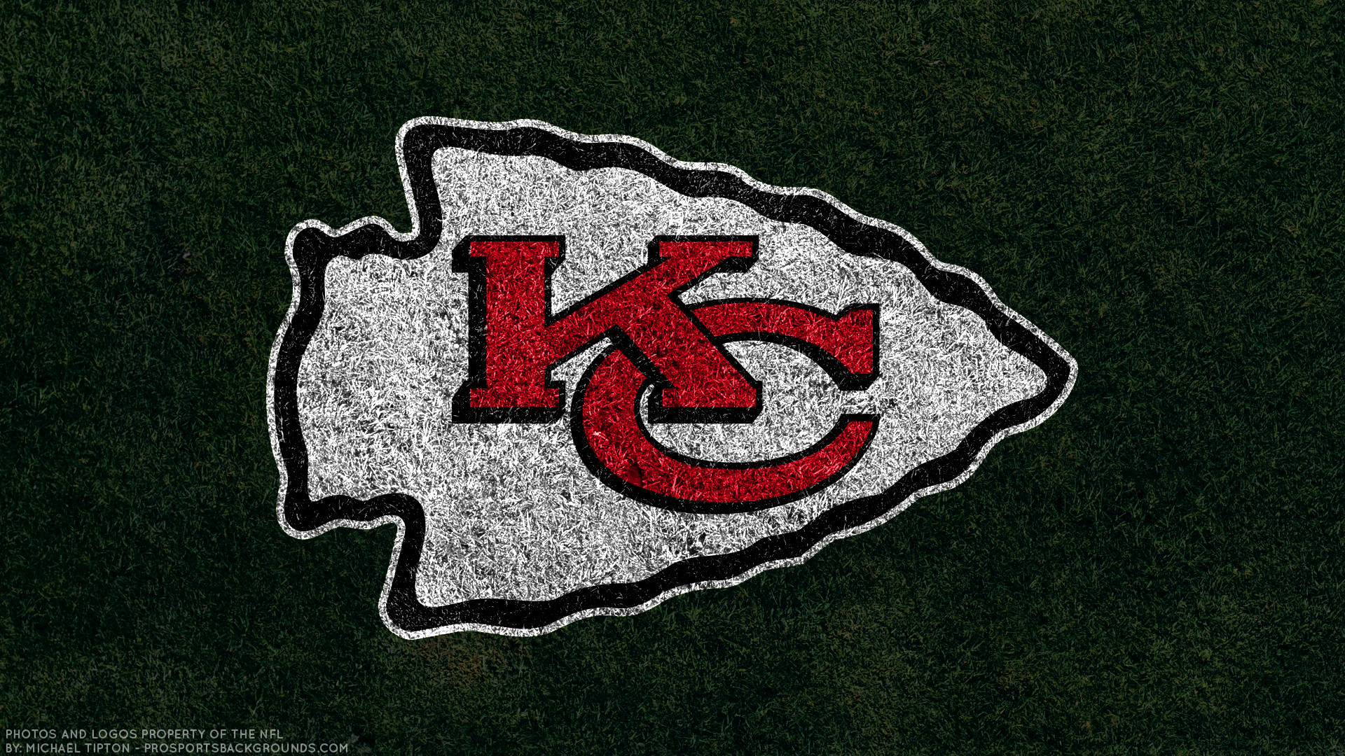 Kansas City Chiefs 2017 Turf Football Logo Wallpaper Free Pc Desktop Computer