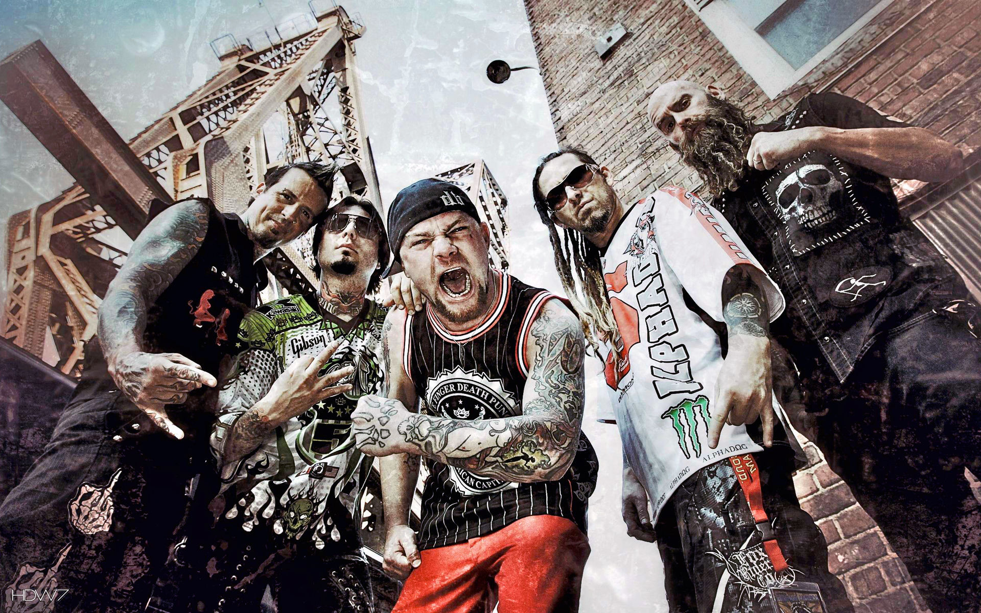 1920x1200 five finger death punch music band group