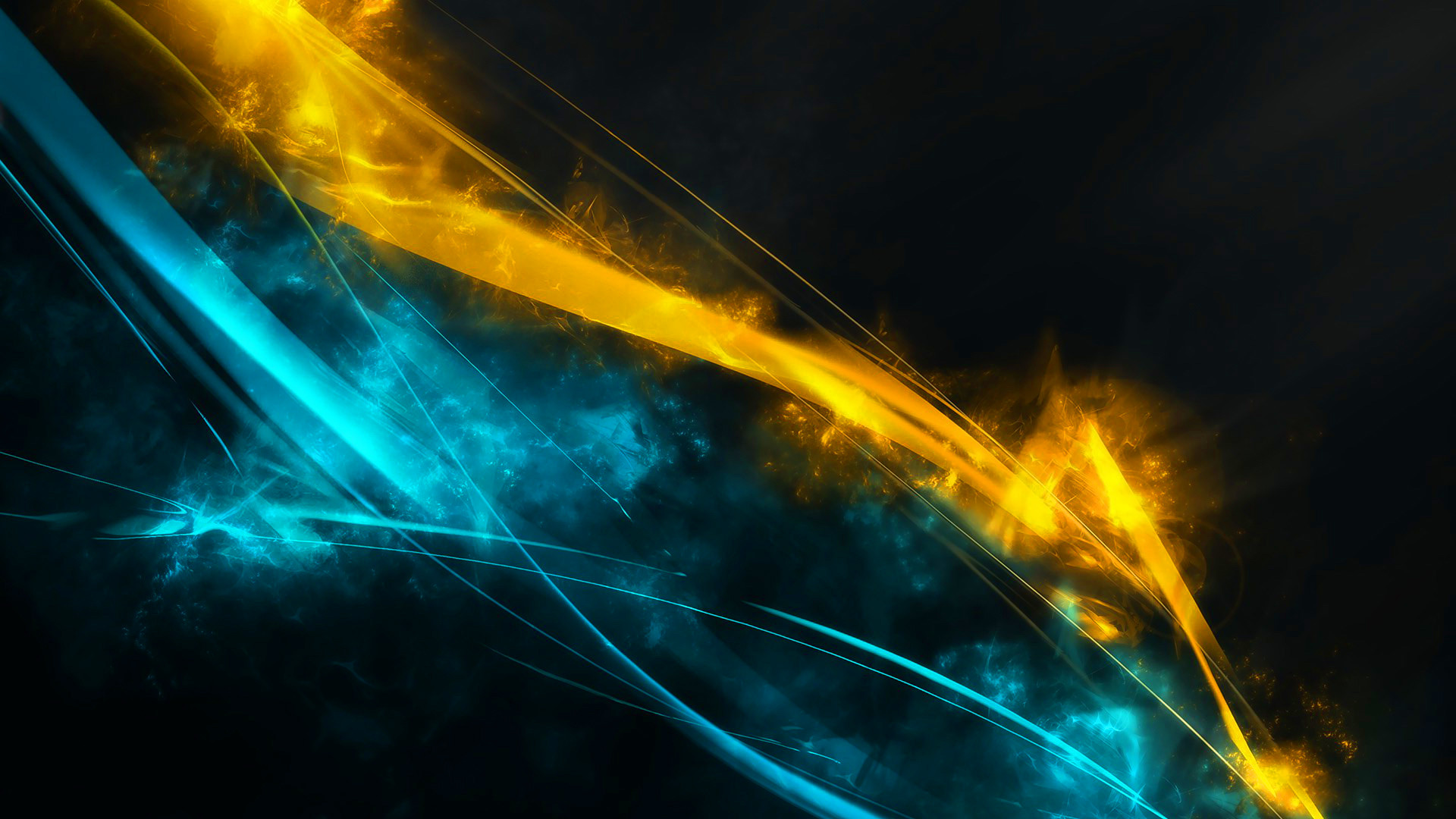 1920x1080 Blue And Yellow