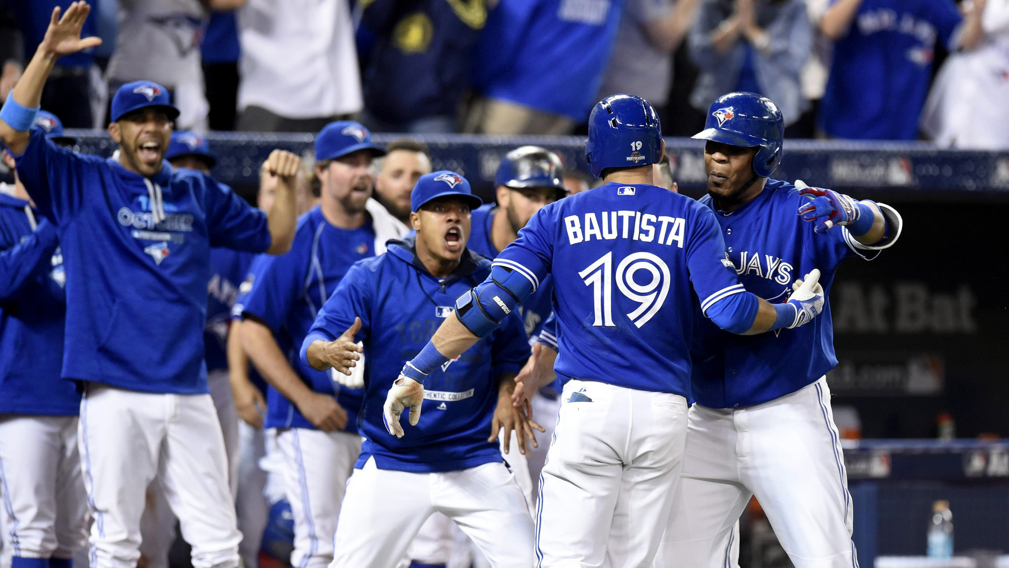 2048x1152 Blue Jays beat Rangers, 6-3, in emotional Game 5 to win division series -  LA Times