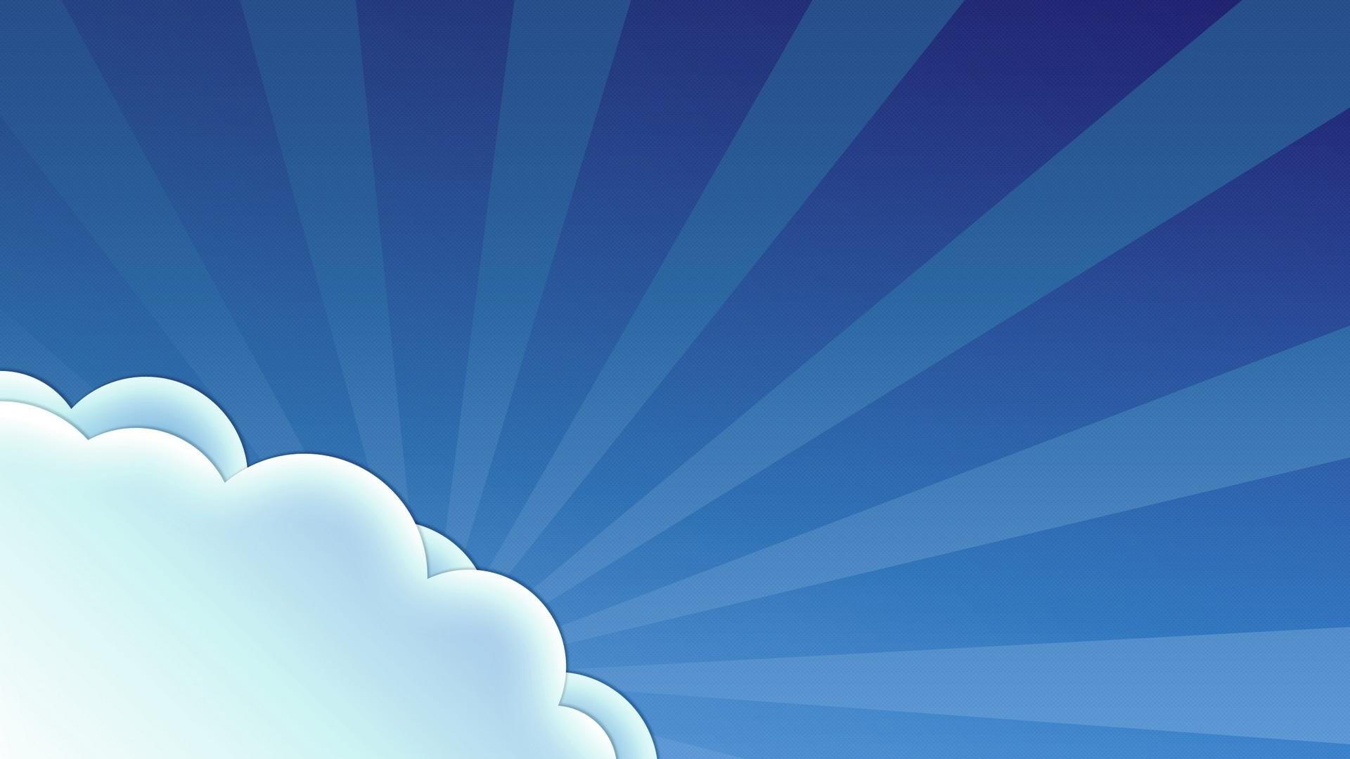 1920x1080 Vector Blue Sky And White Clouds Desktop Backgrounds Widescreen