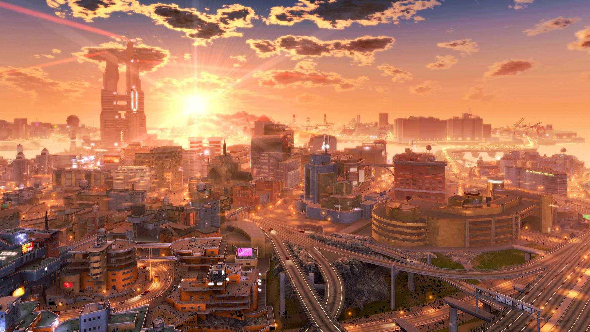 1920x1080 Digital Art Spaceship Cityscape Futuristic City Wallpaper