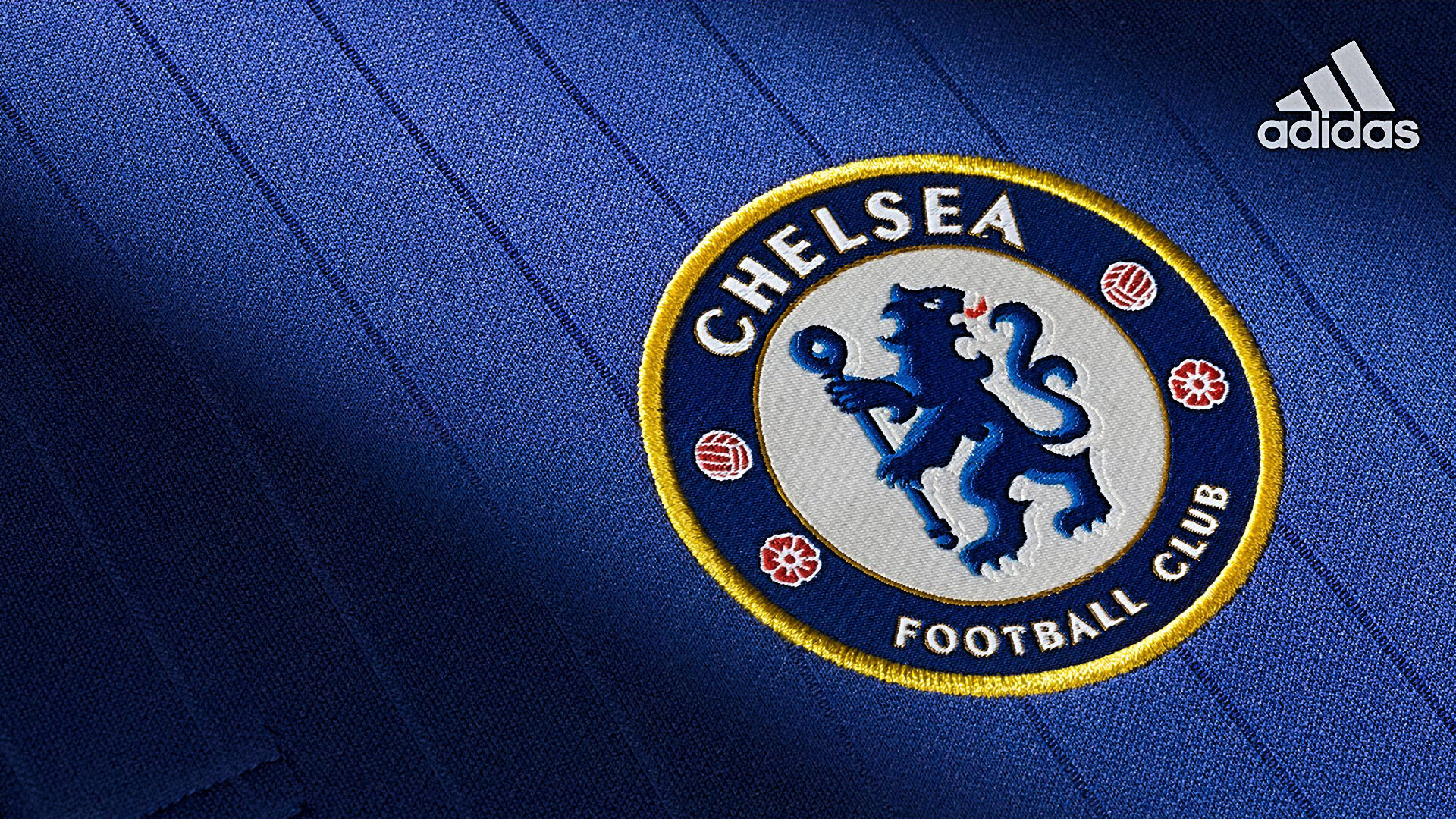 1920x1080 Chelsea Football Club 2015-2016 Adidas Jersey Badge HD Wallpaper
