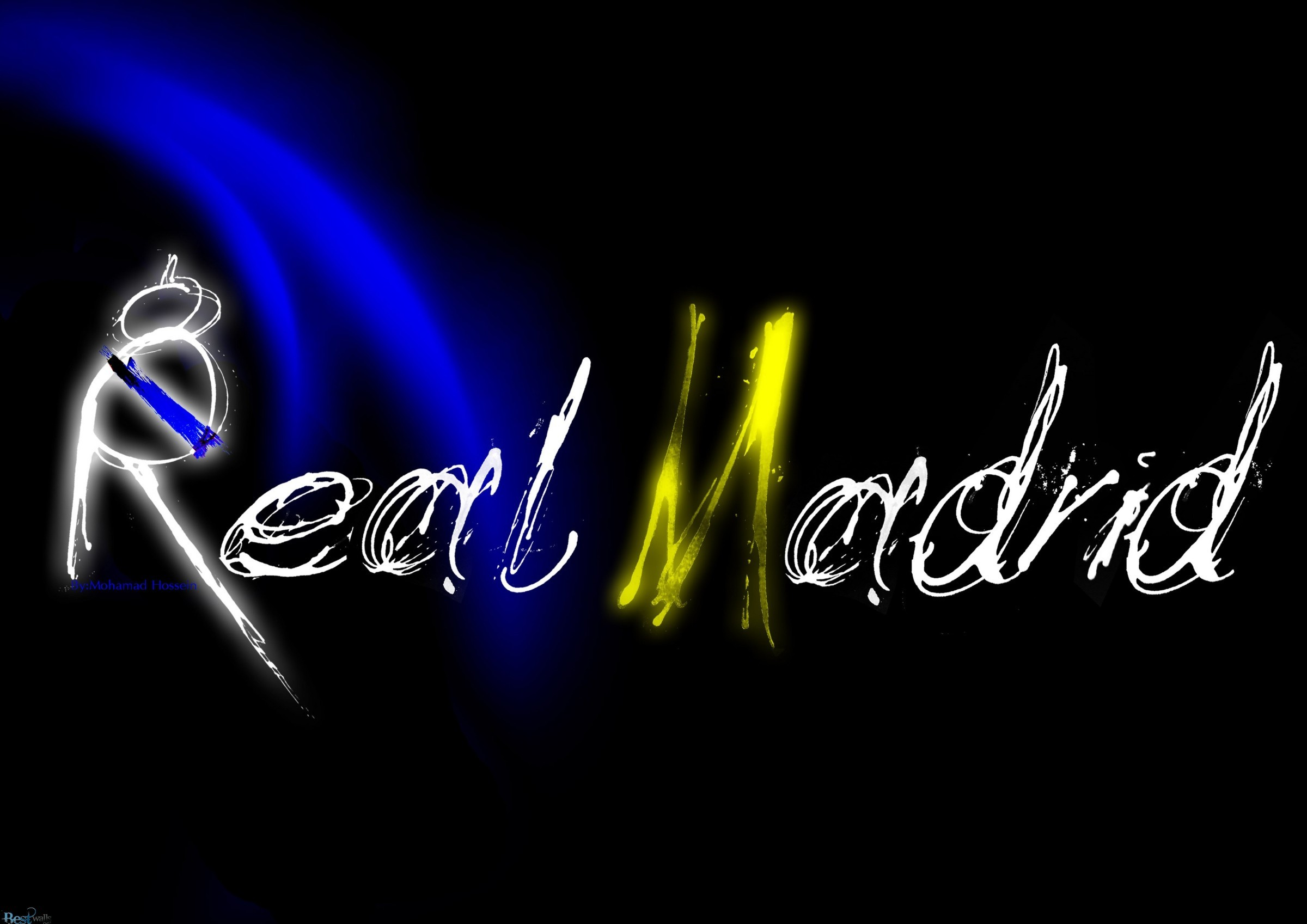2400x1697 real madrid 3d logo wide wallpaper