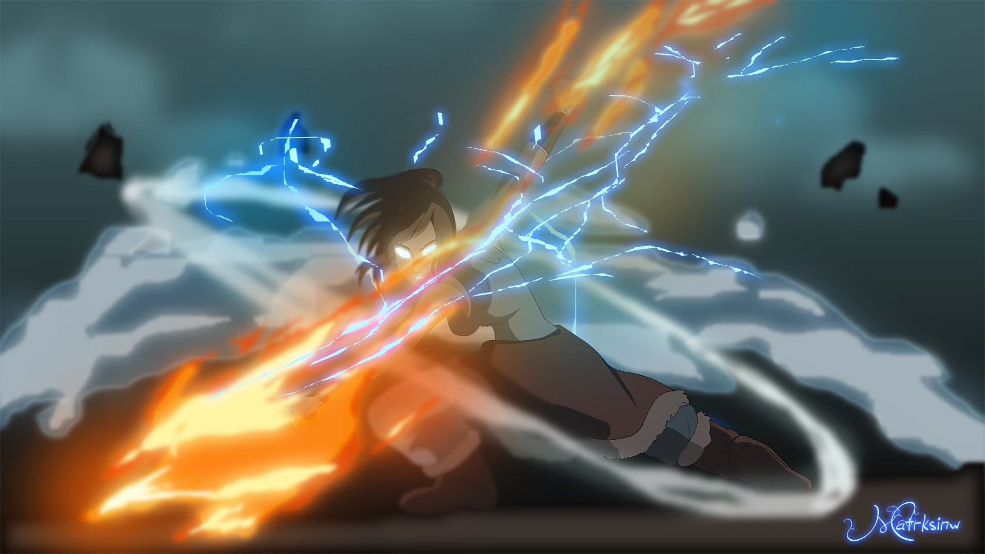 1920x1080 the legend of korra avatar: the legend of korra korra corra art poems magic  fire