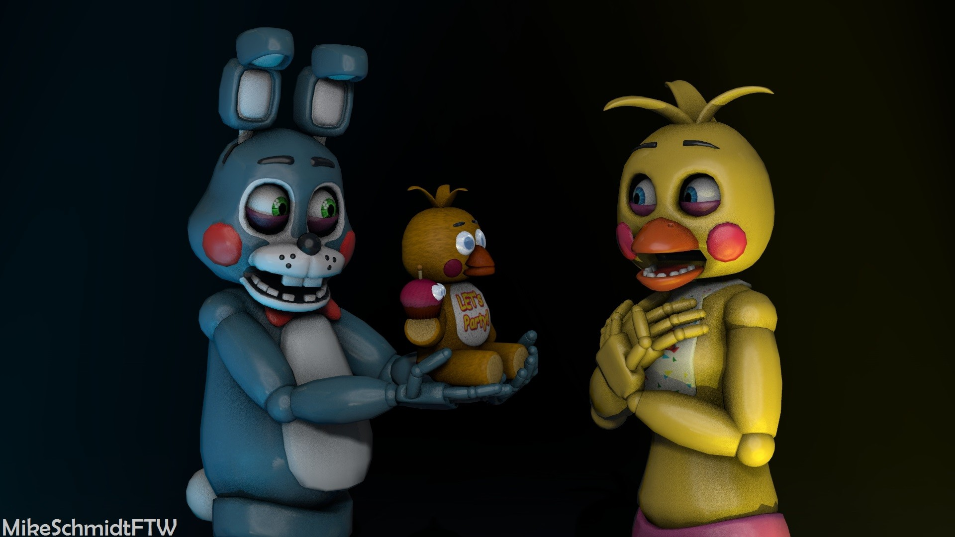 1920x1080 ... OfficerSchmidtFTW Toy Bonnie and Toy Chica by OfficerSchmidtFTW