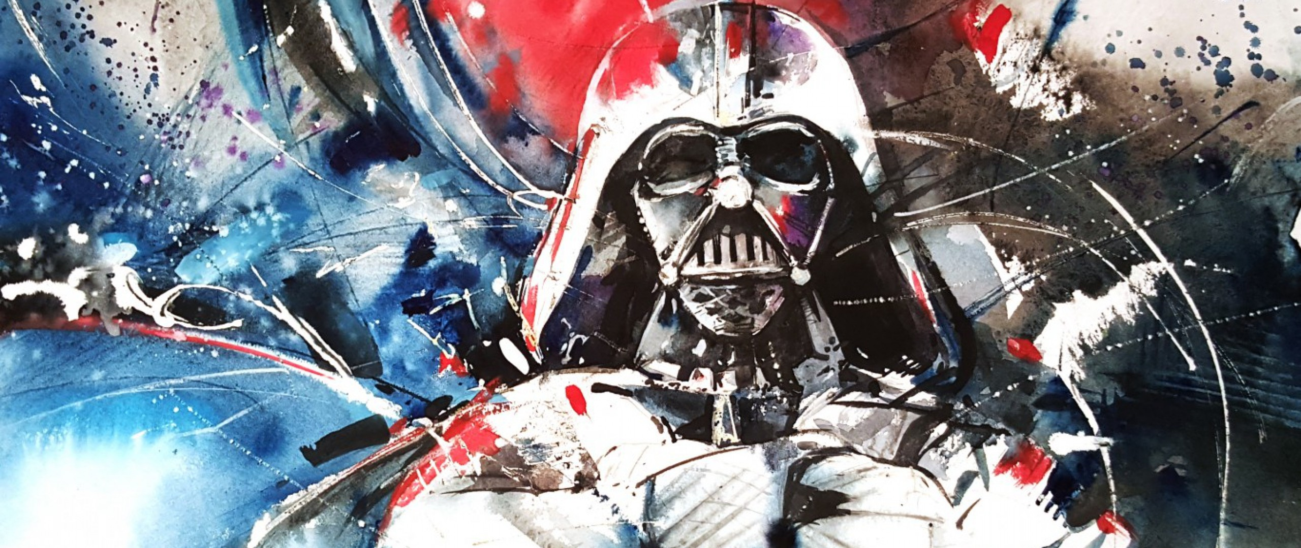 2560x1080 Preview wallpaper darth vader, star wars, abstraction, art